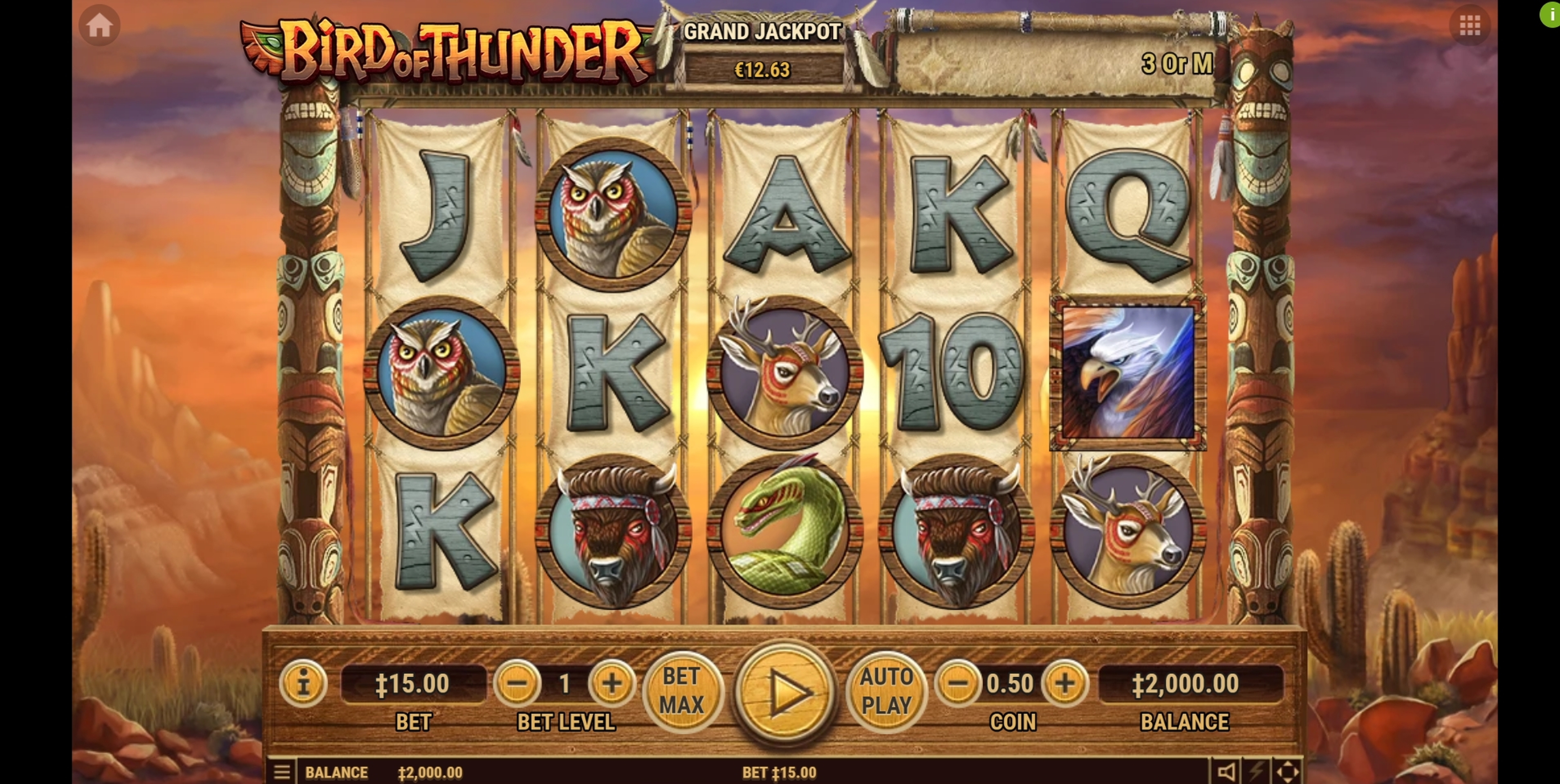 Reels in Bird of Thunder Slot Game by Habanero