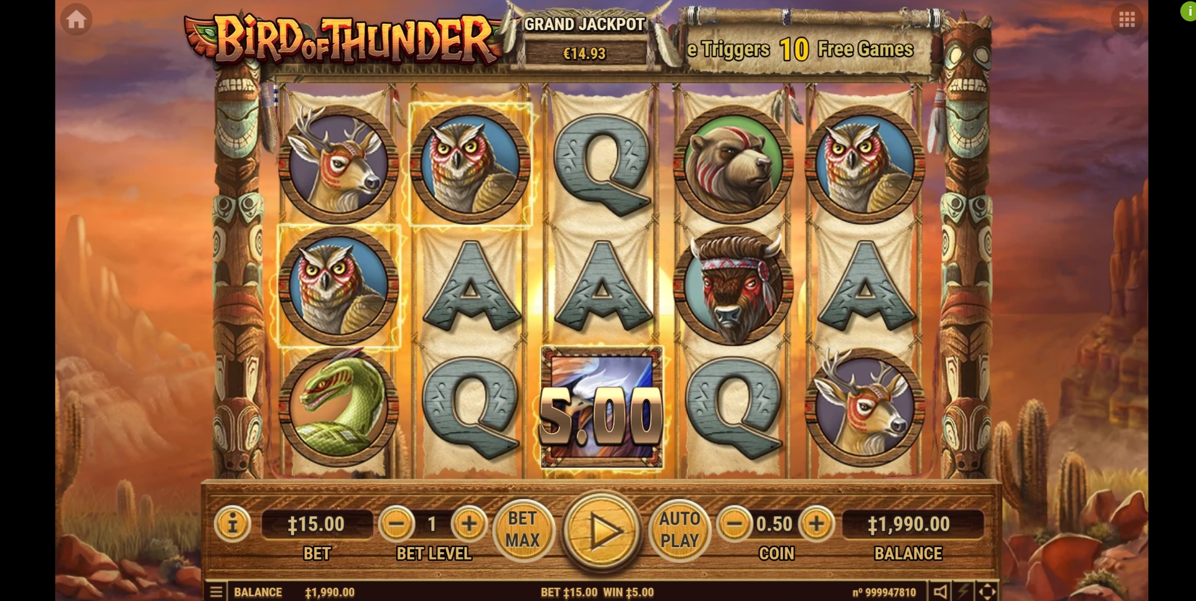 Win Money in Bird of Thunder Free Slot Game by Habanero