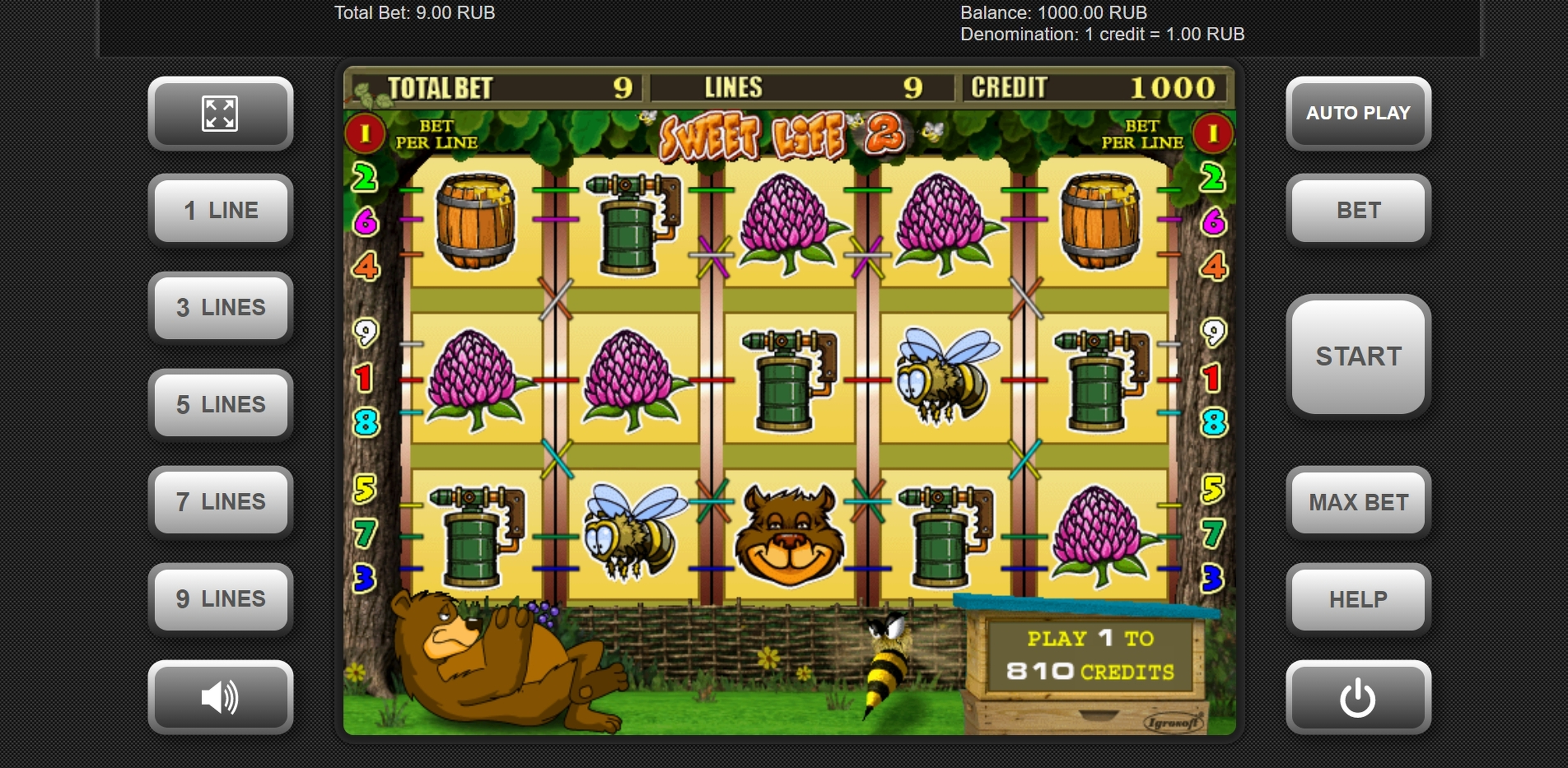 Reels in Sweet Life 2 Slot Game by Igrosoft