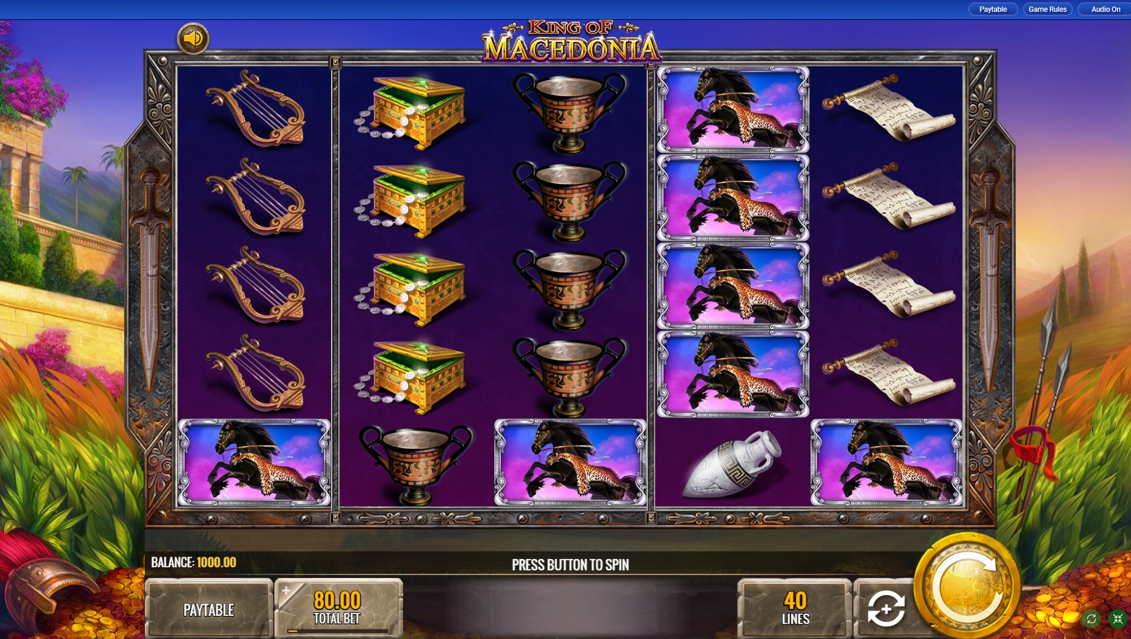 Reels in King of Macedonia Slot Game by IGT