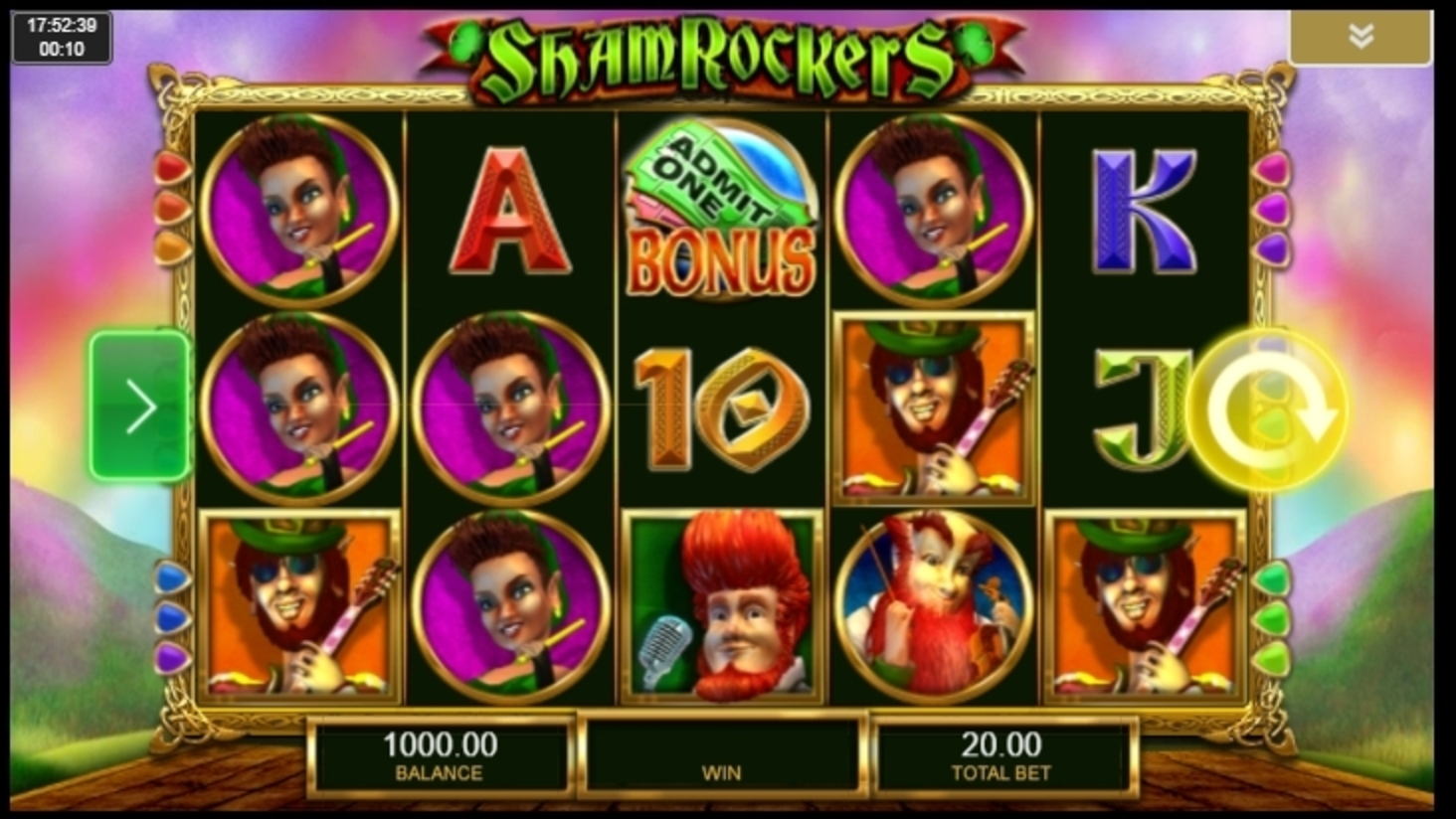 Reels in Shamrockers Eire to Rock Slot Game by IGT