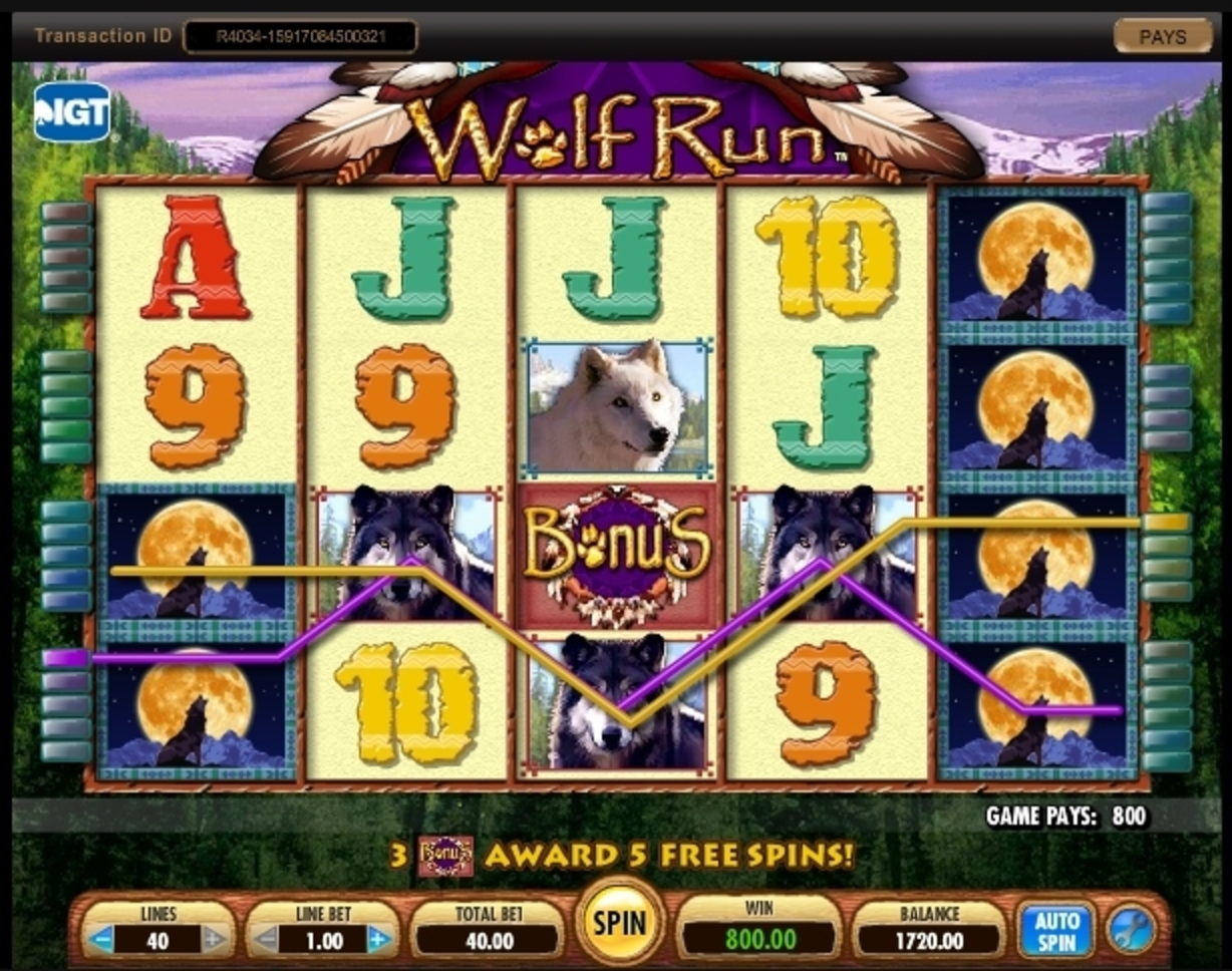 Win Money in Wolf Run Free Slot Game by IGT