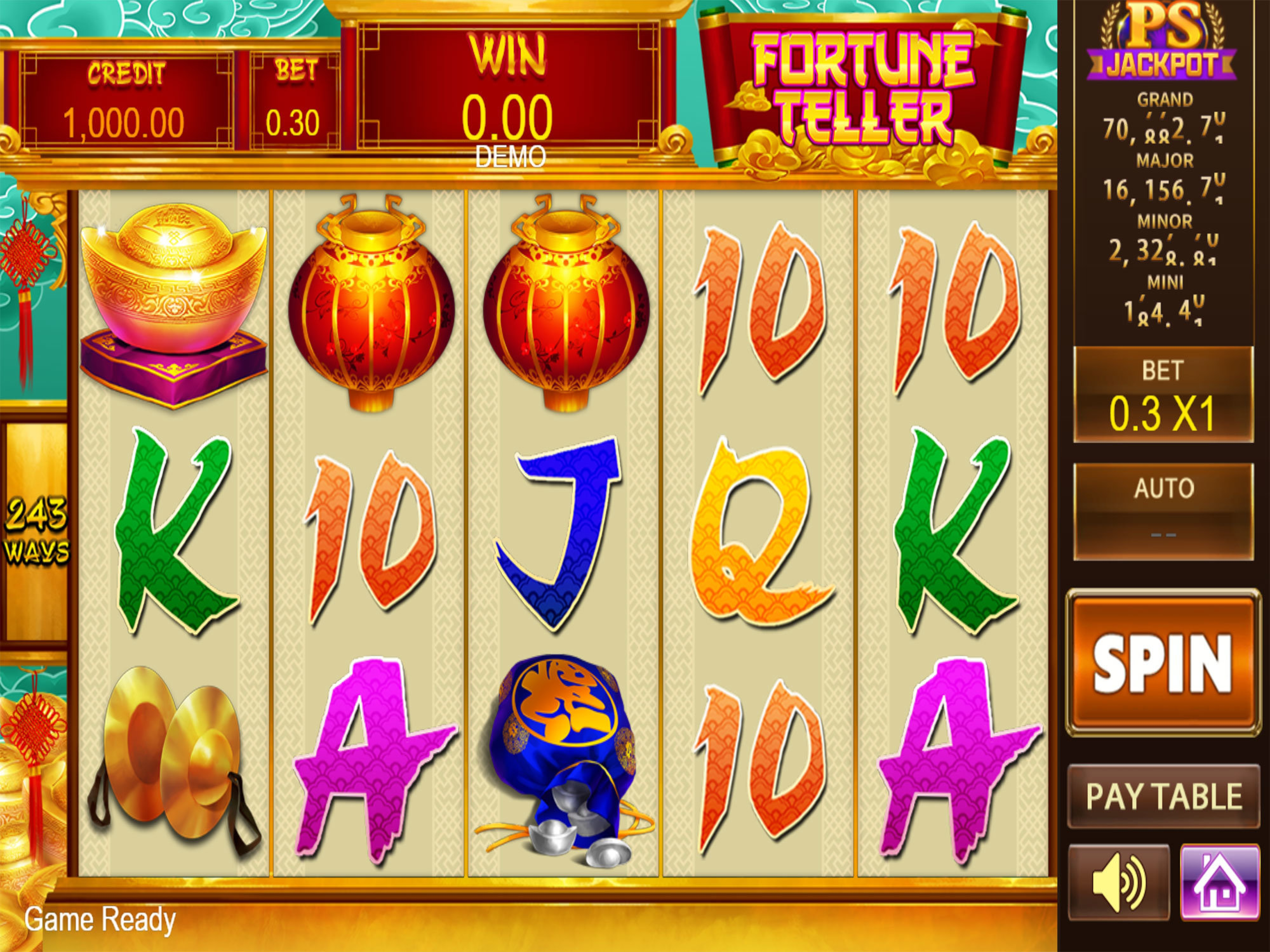 The Fortune Teller (PlayStar) Online Slot Demo Game by PlayStar