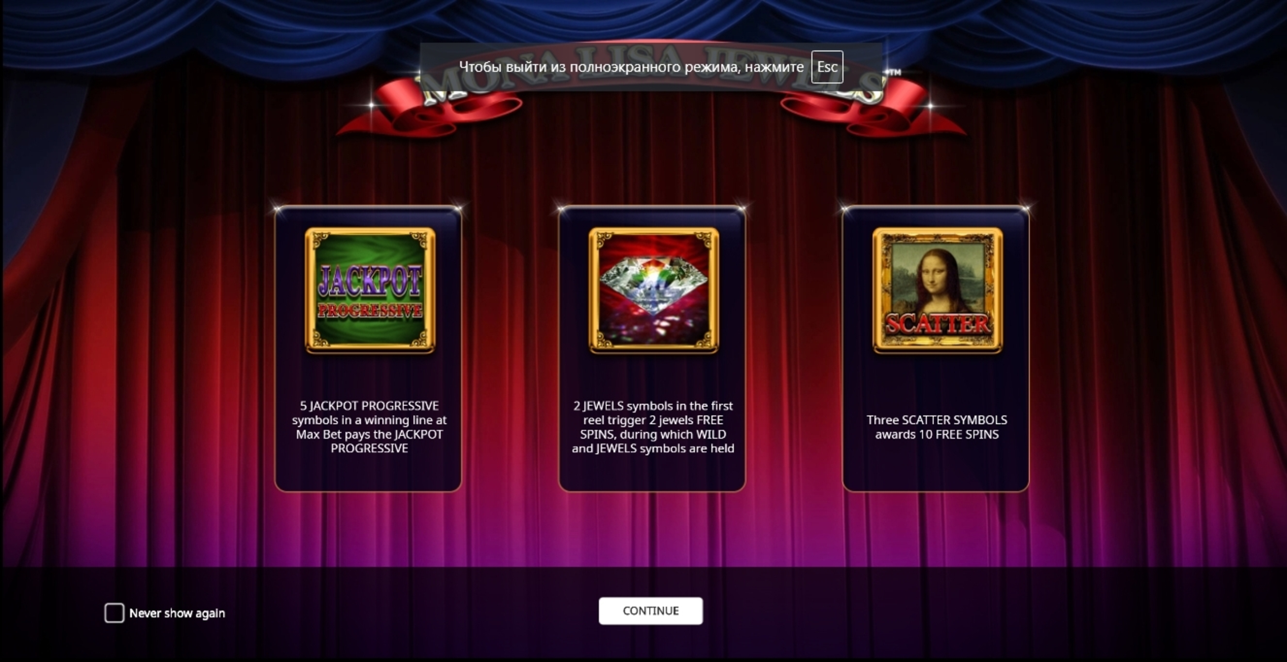 Play Mona Lisa Jewels Free Casino Slot Game by iSoftBet