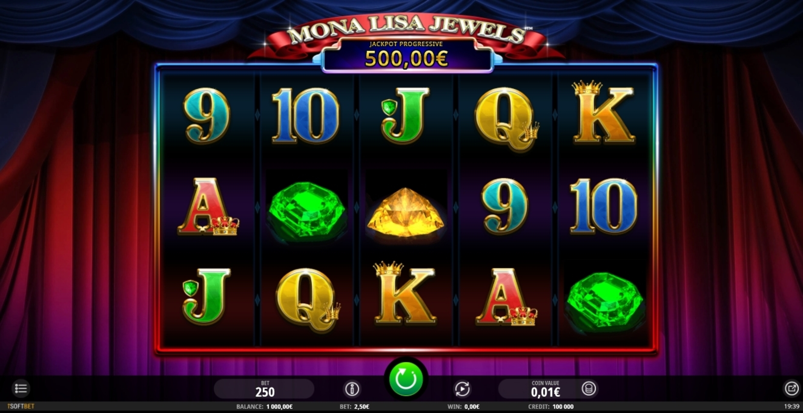 Reels in Mona Lisa Jewels Slot Game by iSoftBet