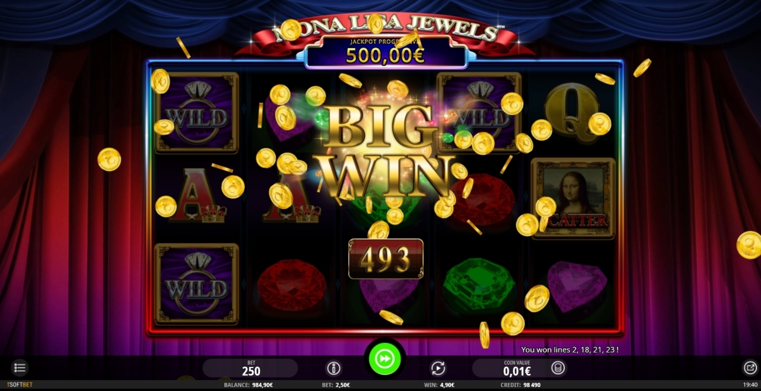 Win Money in Mona Lisa Jewels Free Slot Game by iSoftBet