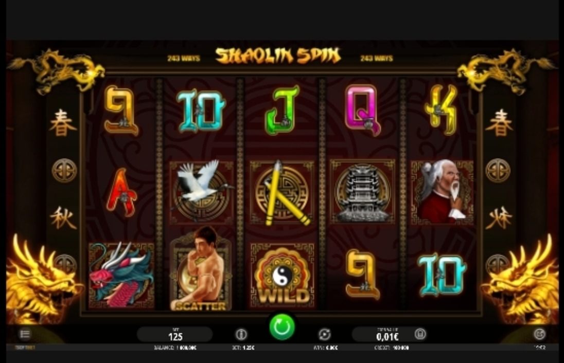 Reels in Shaolin Spin Slot Game by iSoftBet
