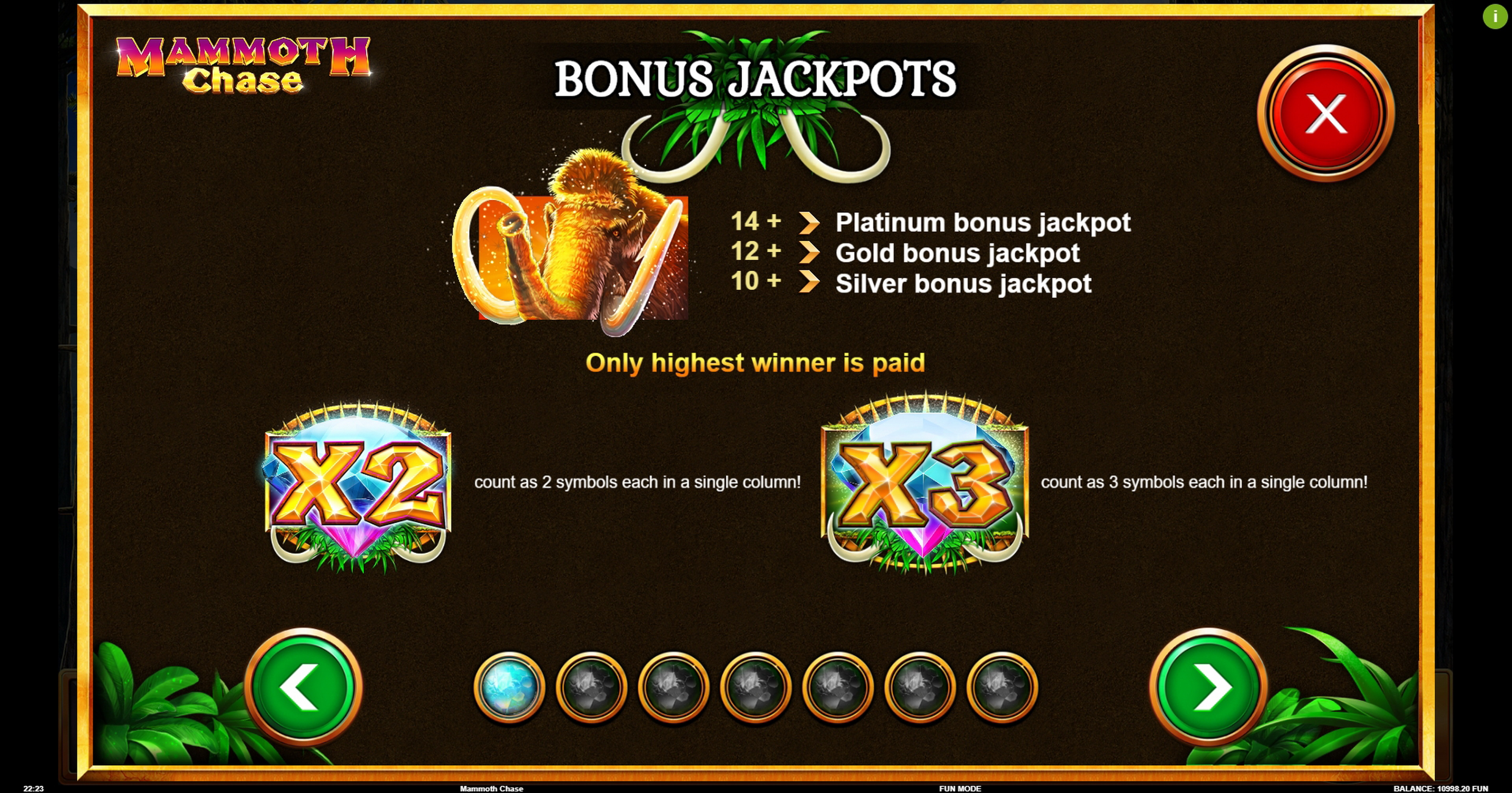 Info of Mammoth Chase Slot Game by Kalamba Games