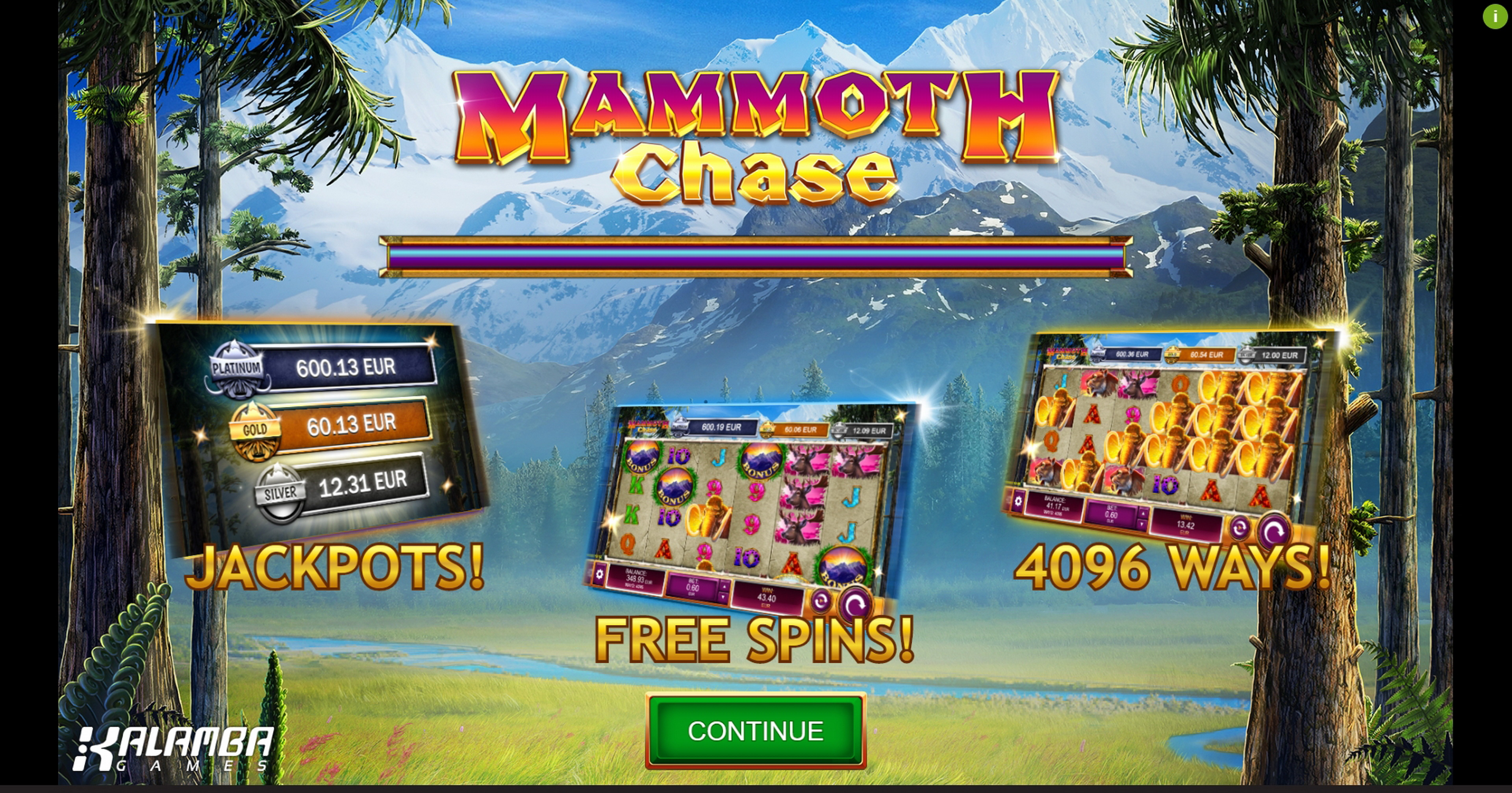 Play Mammoth Chase Free Casino Slot Game by Kalamba Games