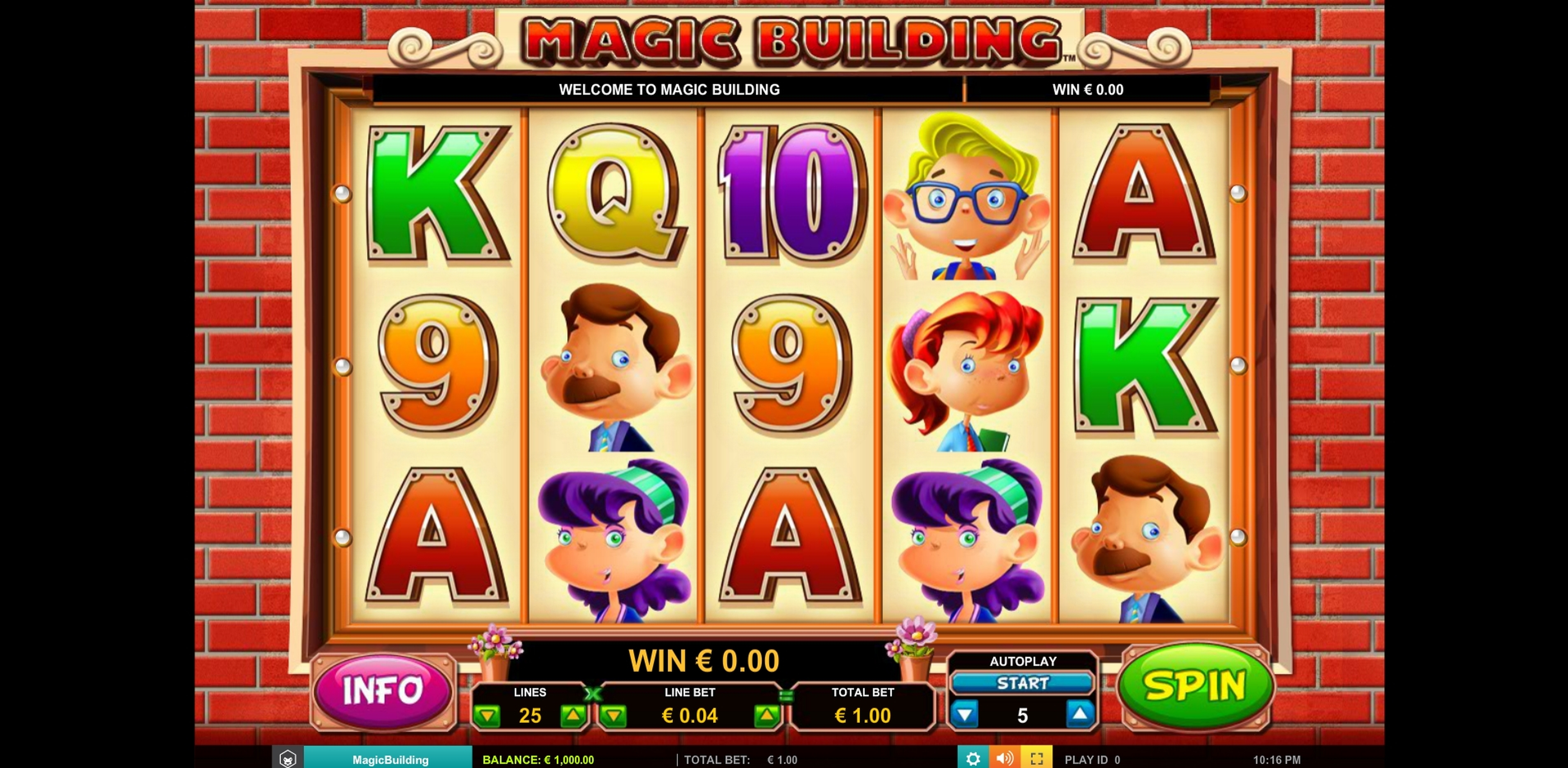 Reels in Magic Building Slot Game by Leander Games