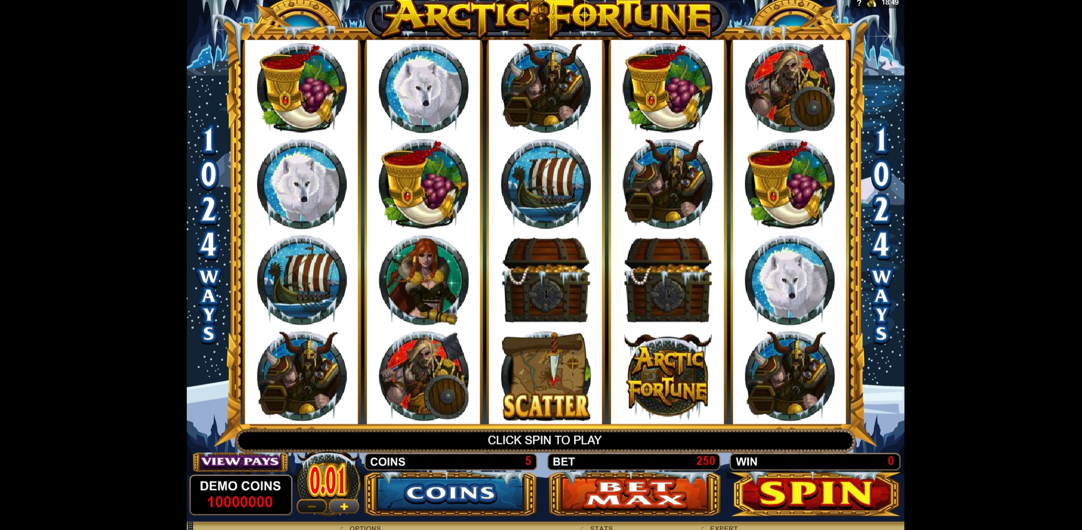 Reels in Arctic Fortune Slot Game by Microgaming