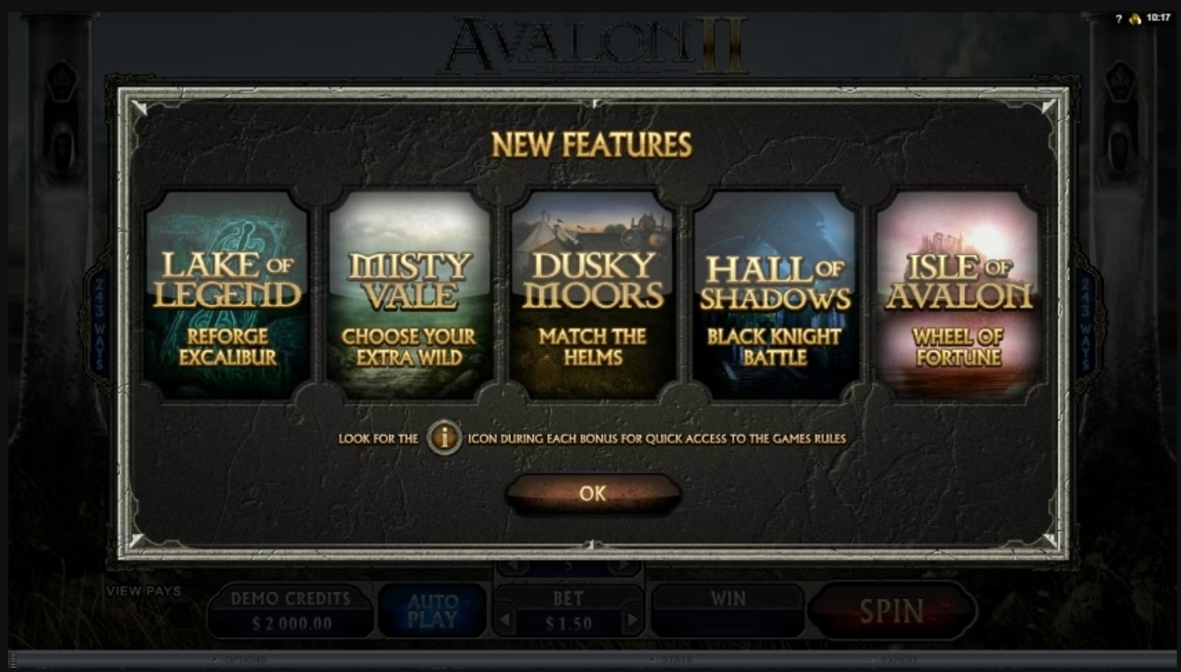 Play Avalon II Free Casino Slot Game by Microgaming
