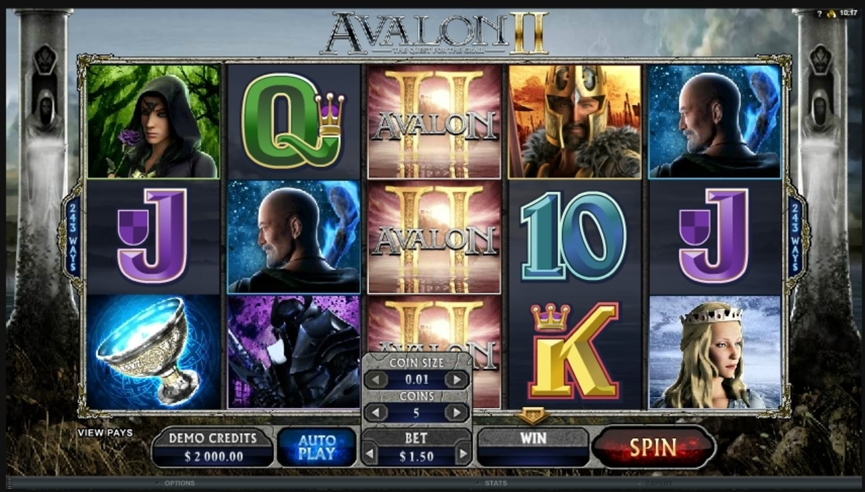 Reels in Avalon II Slot Game by Microgaming