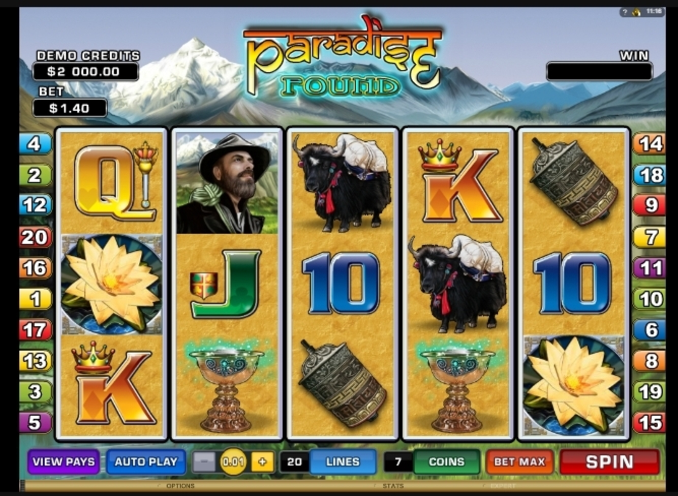 Reels in Paradise Found Slot Game by Microgaming