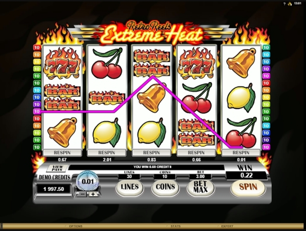 Win Money in Retro Reels: Extreme Heat Free Slot Game by Microgaming