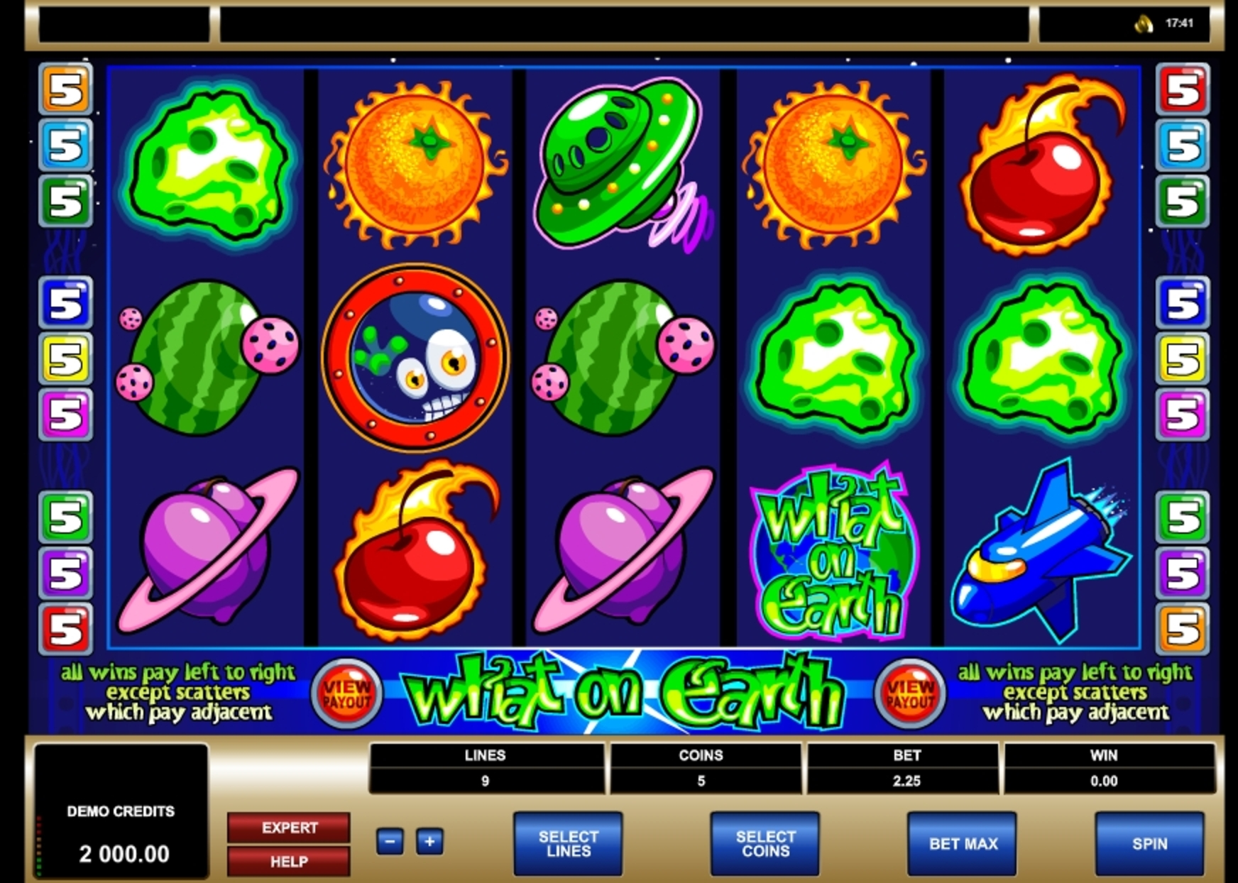Reels in What on Earth Slot Game by Microgaming