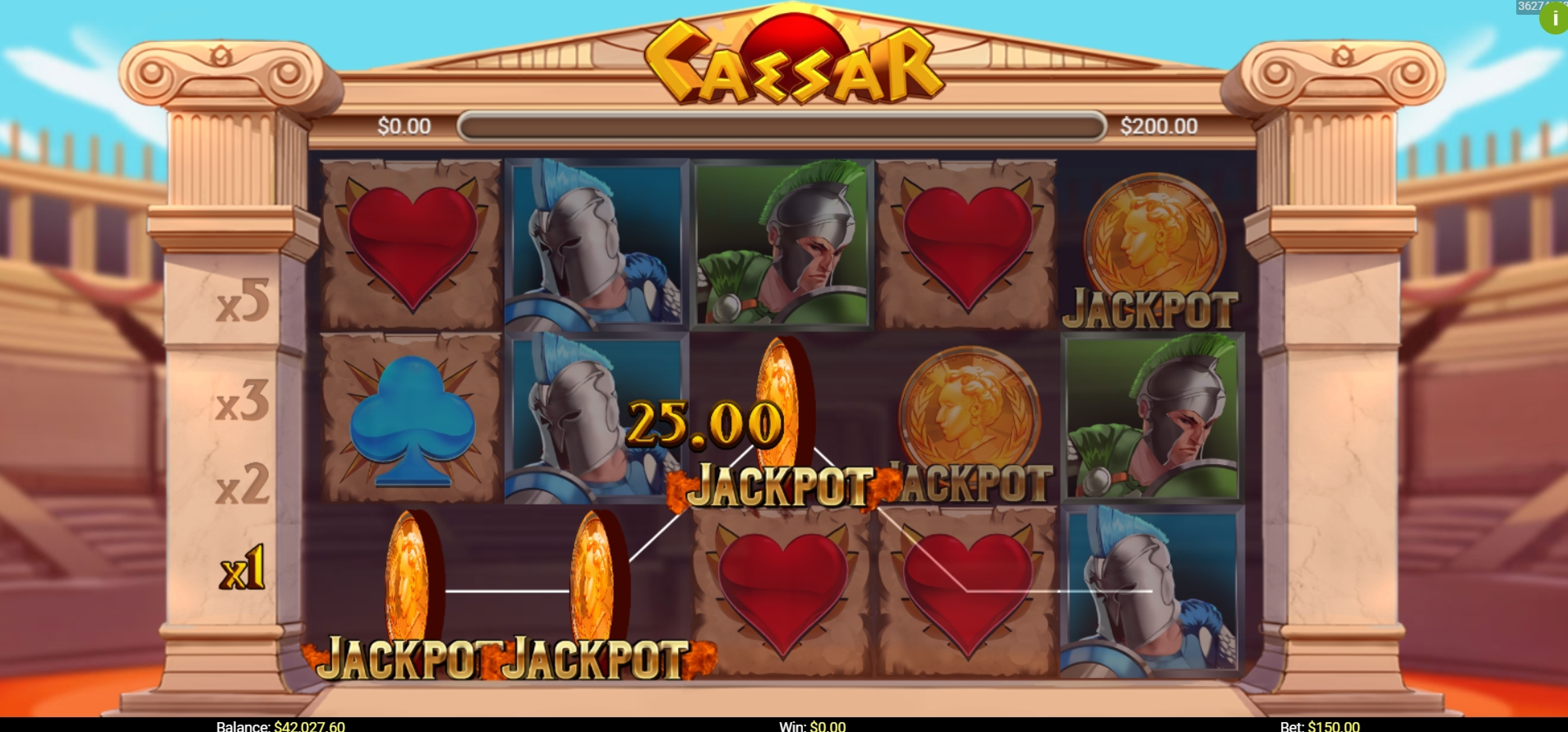 Win Money in Caesar (Mobilots) Free Slot Game by Mobilots