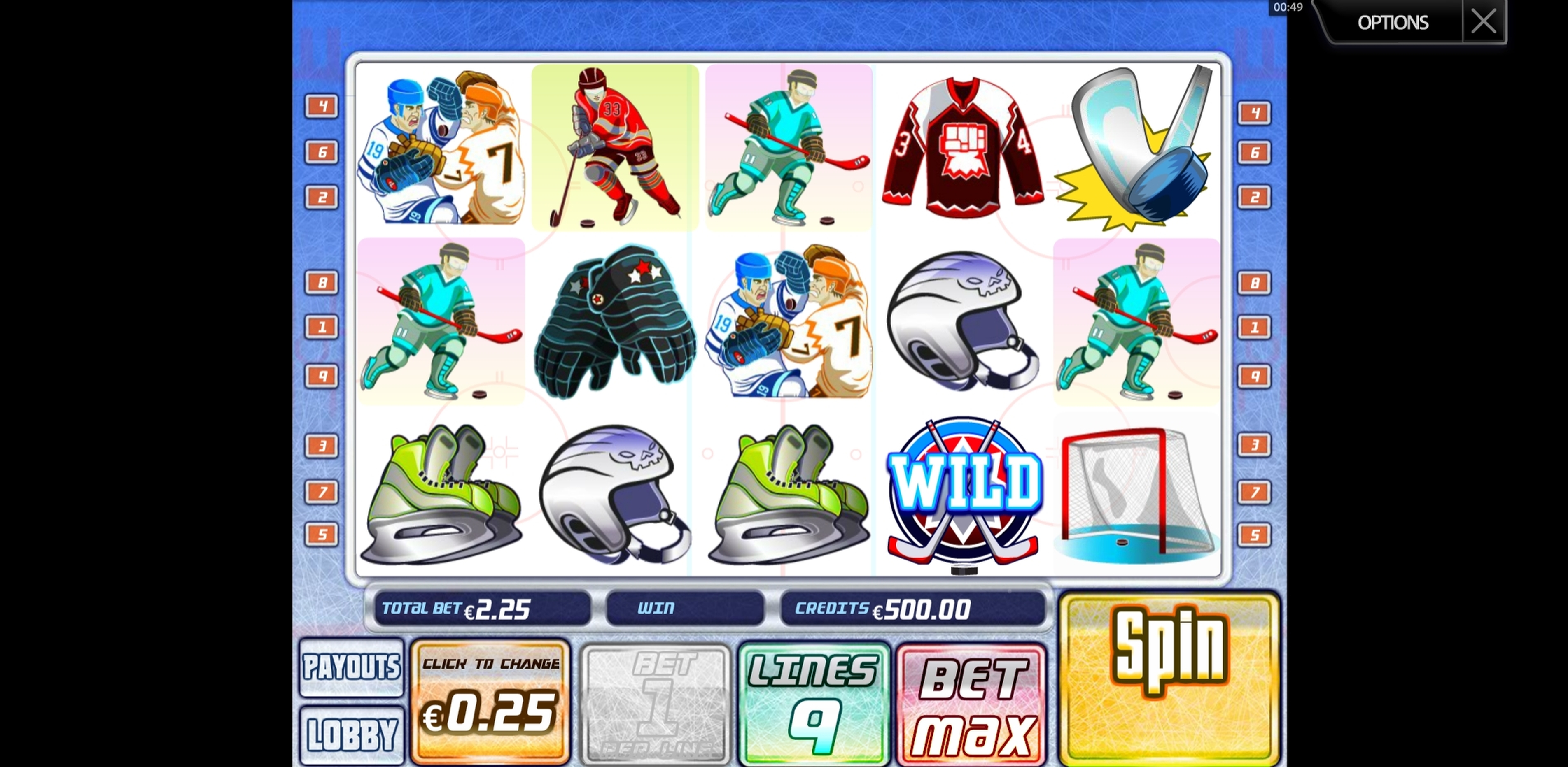 Reels in SlapShot Slot Game by Multislot