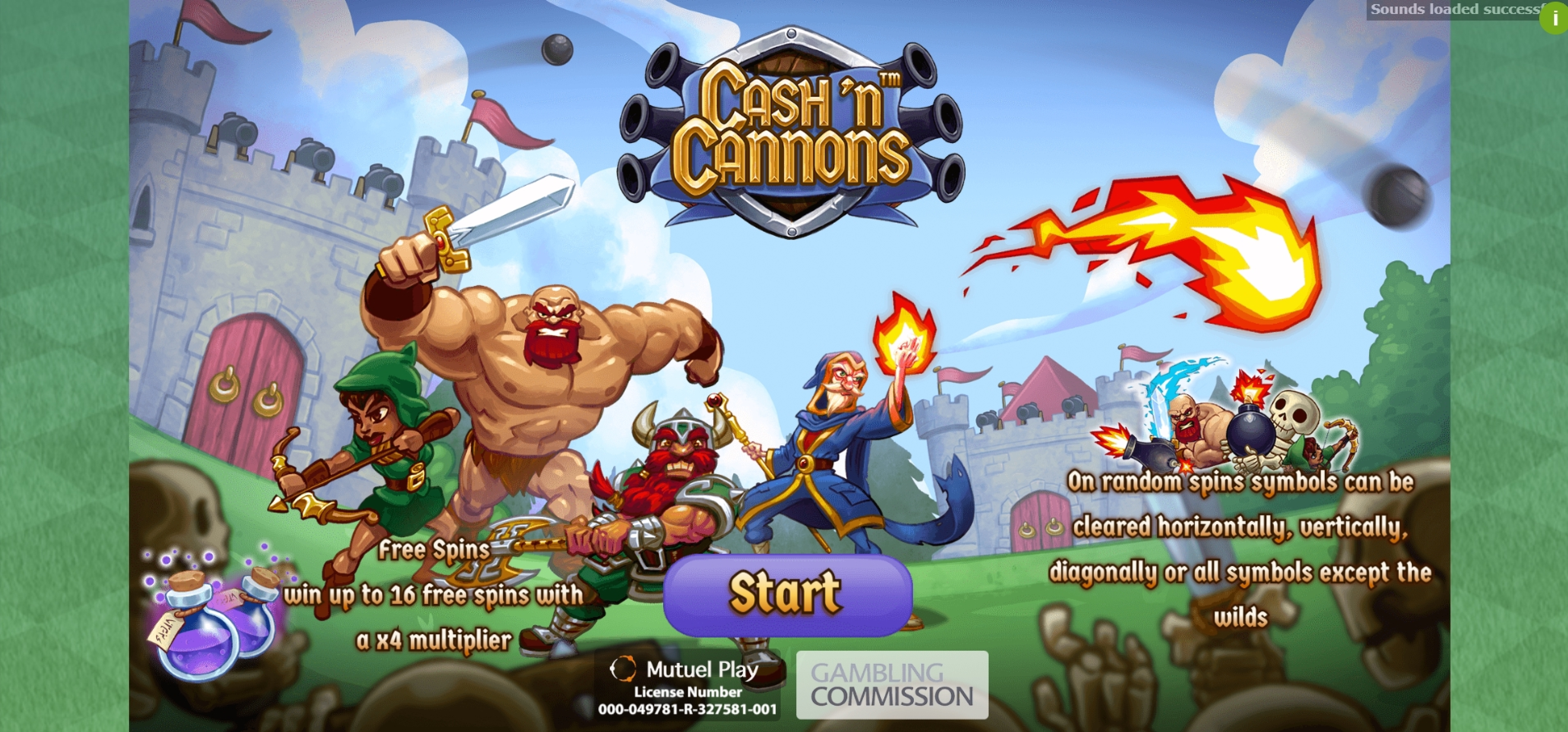 Play Cash 'n Cannons Free Casino Slot Game by Mutuel Play