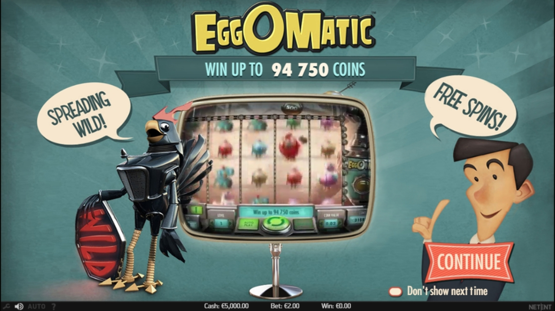 Play Eggomatic Free Casino Slot Game by NetEnt