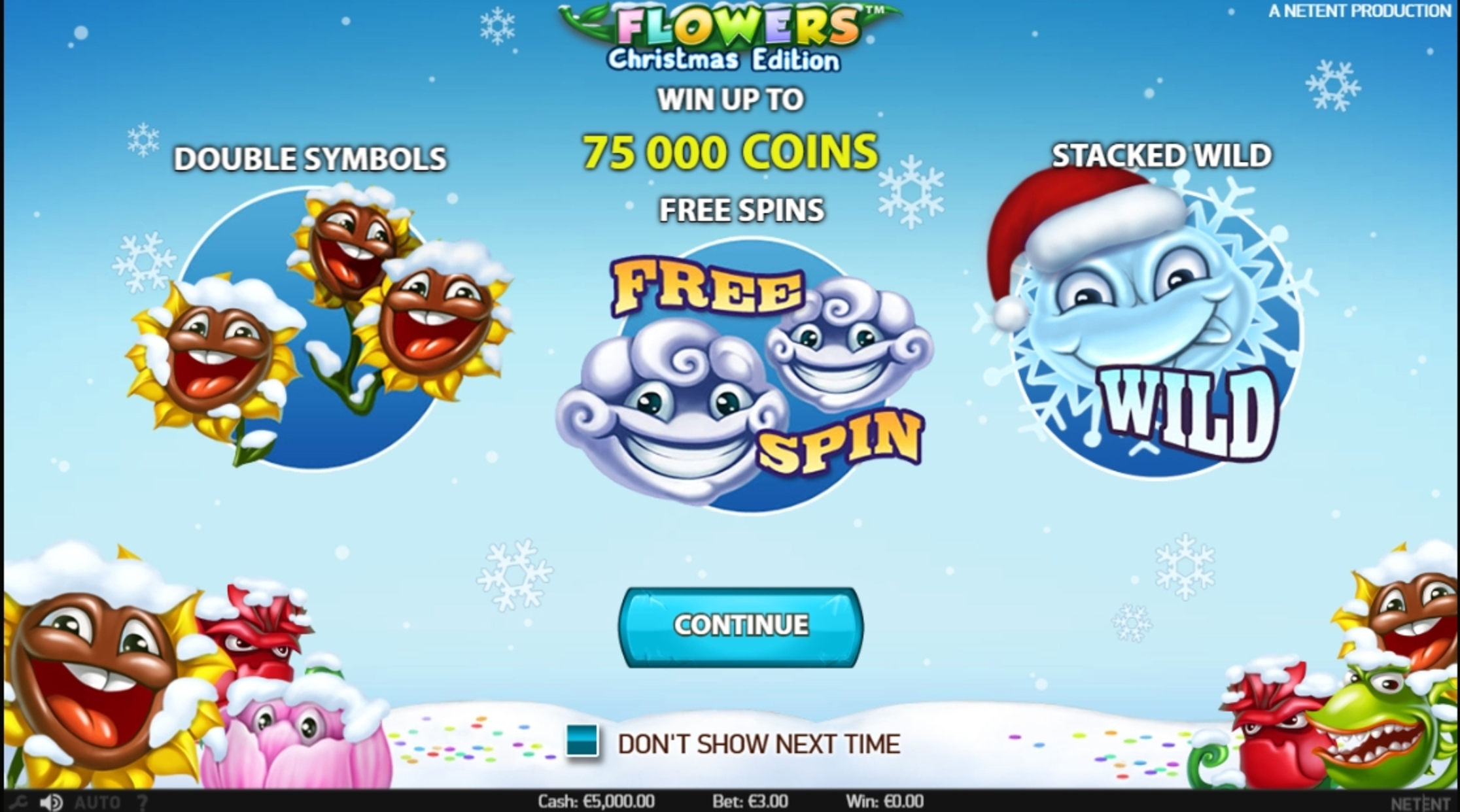 Play Flowers Christmas Edition Free Casino Slot Game by NetEnt