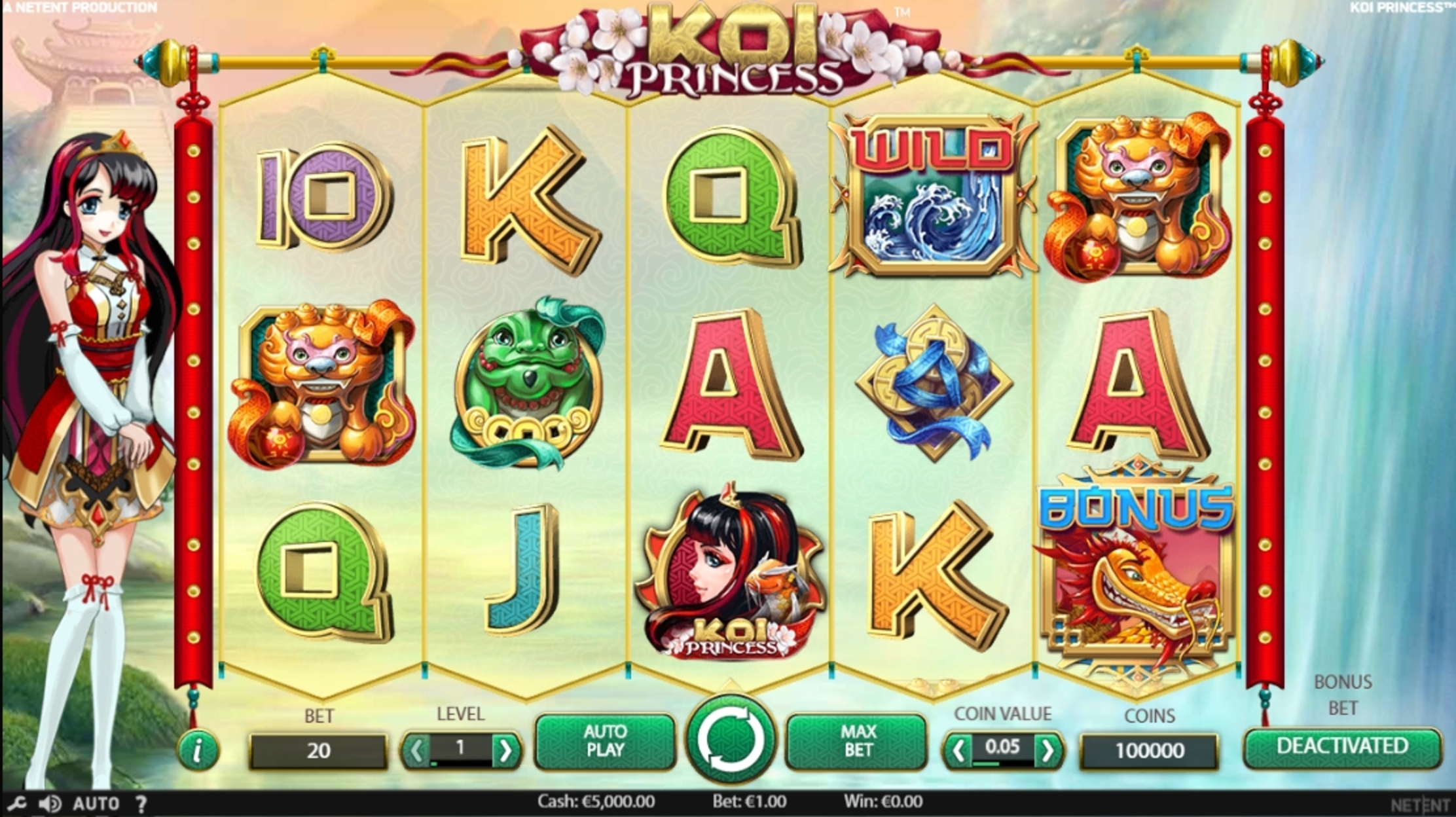 Reels in Koi Princess Slot Game by NetEnt