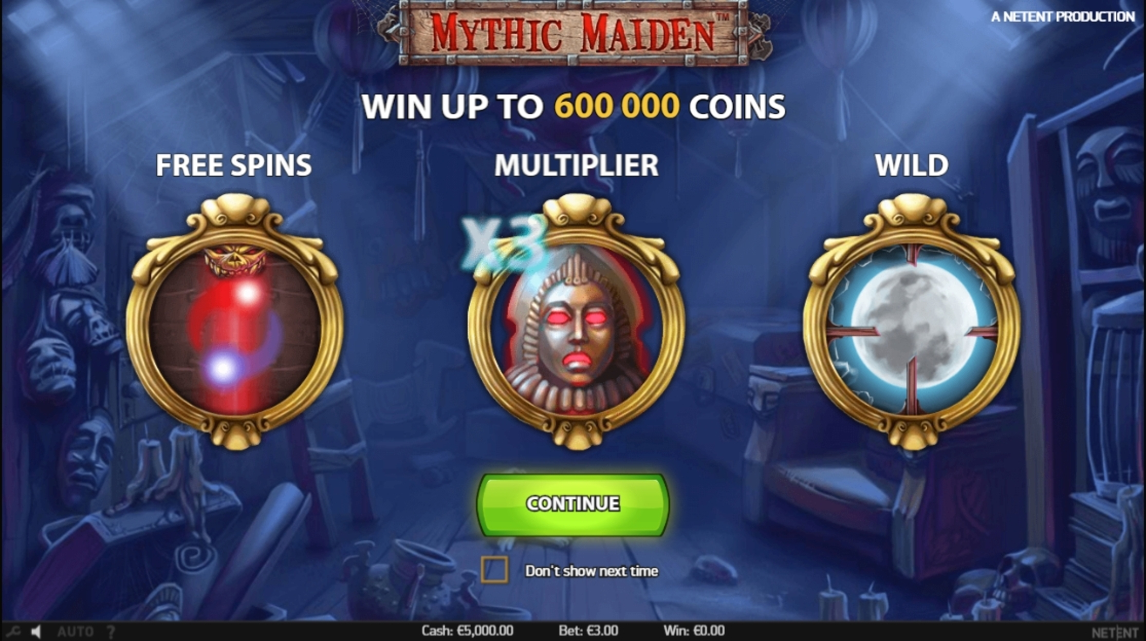 Play Mythic Maiden Free Casino Slot Game by NetEnt