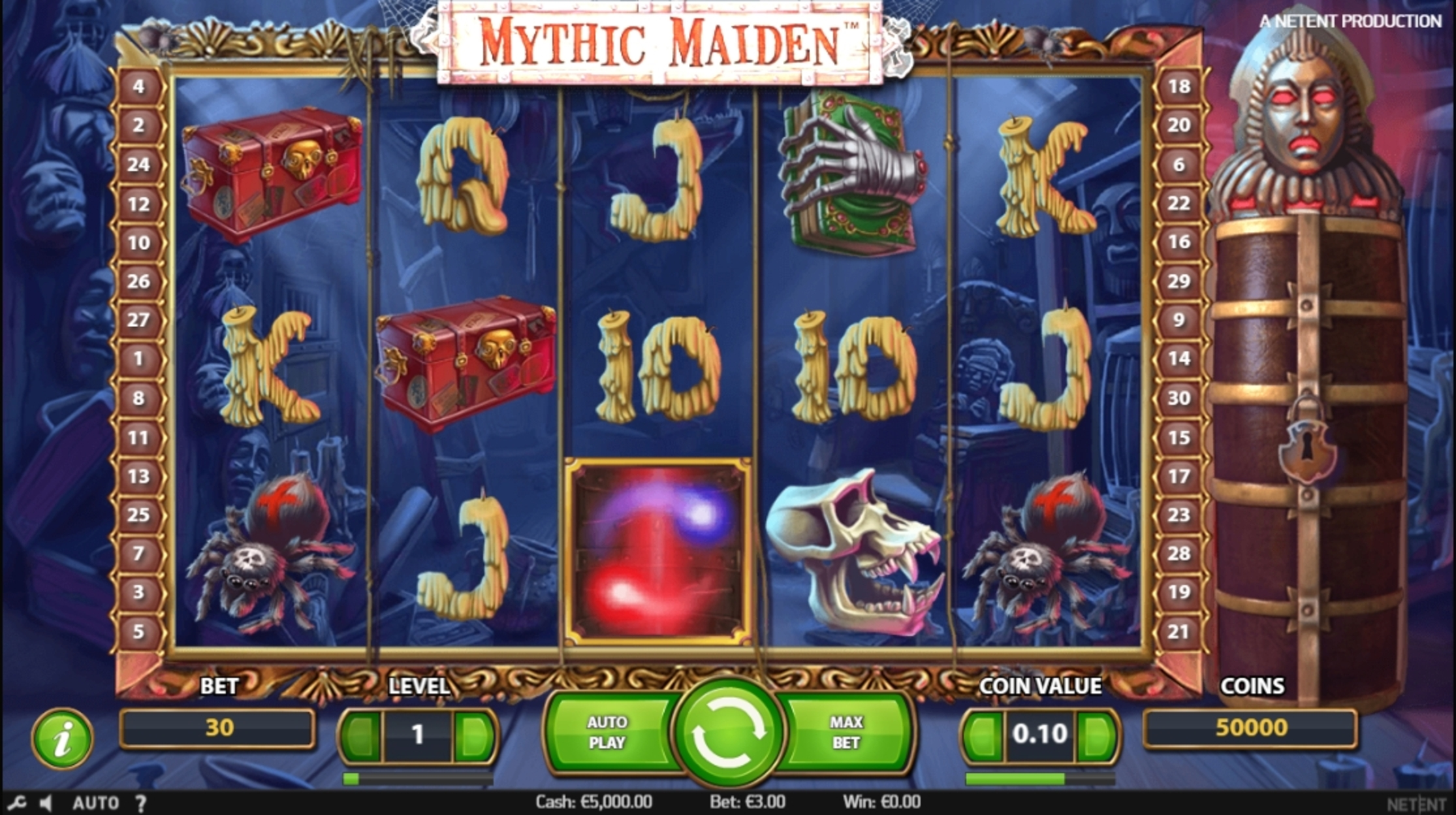Reels in Mythic Maiden Slot Game by NetEnt