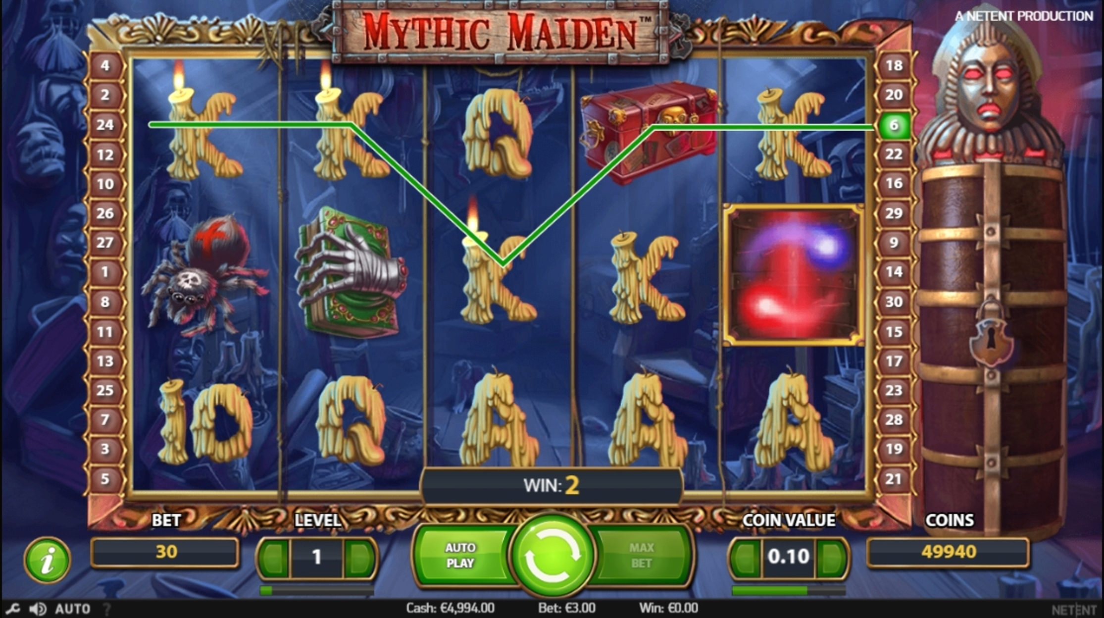 Win Money in Mythic Maiden Free Slot Game by NetEnt
