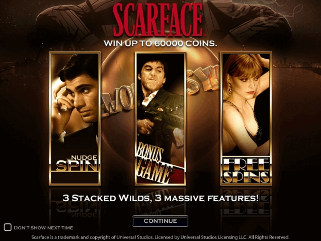 The Scarface Online Slot Demo Game by NetEnt