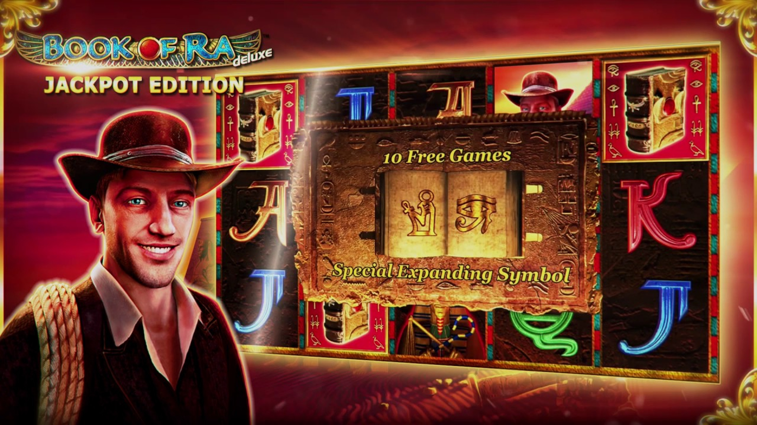 The Book of Ra Deluxe Jackpot Edition Online Slot Demo Game by Novomatic