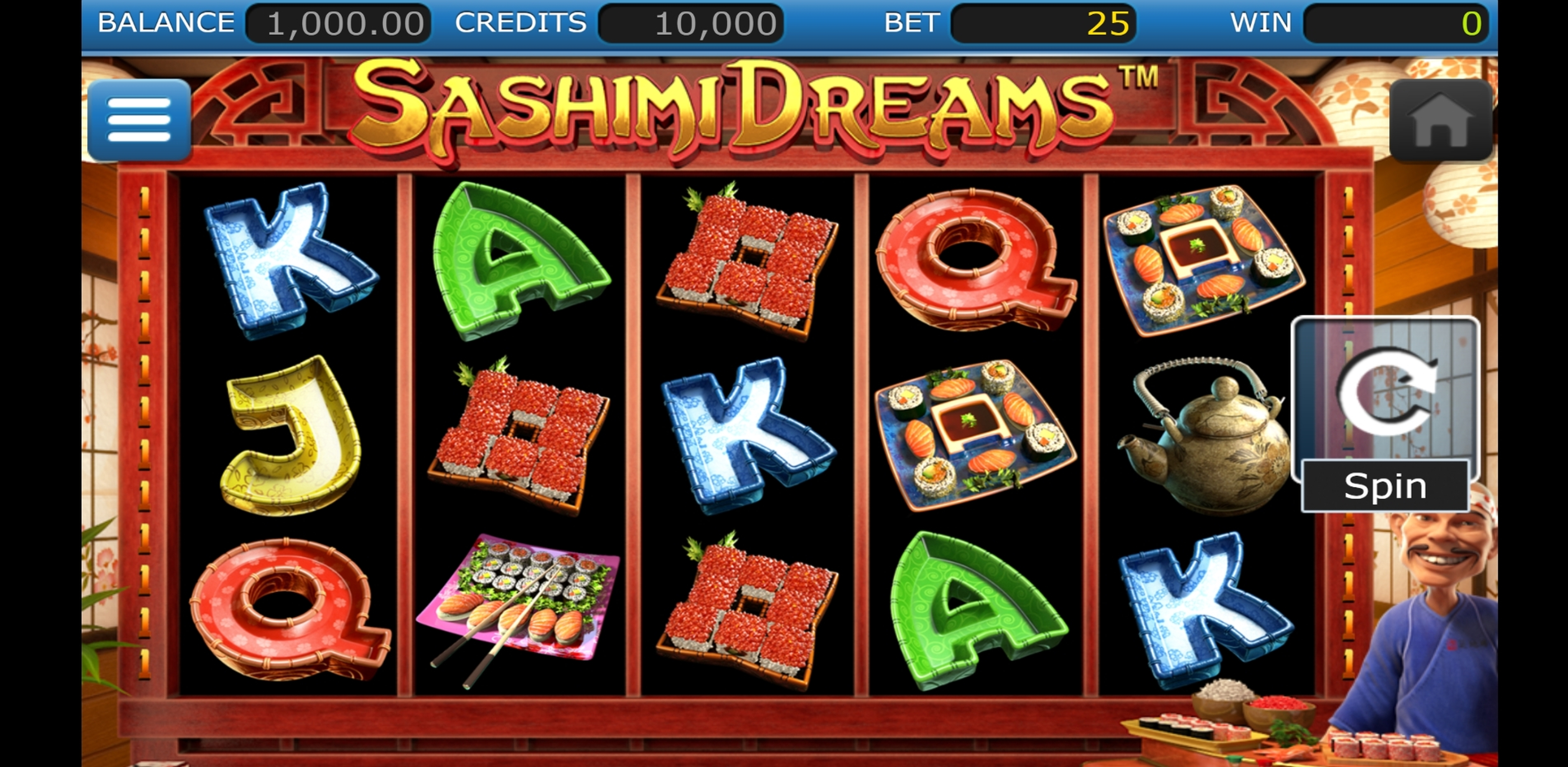 Reels in Sashimi Dreams Slot Game by Nucleus Gaming