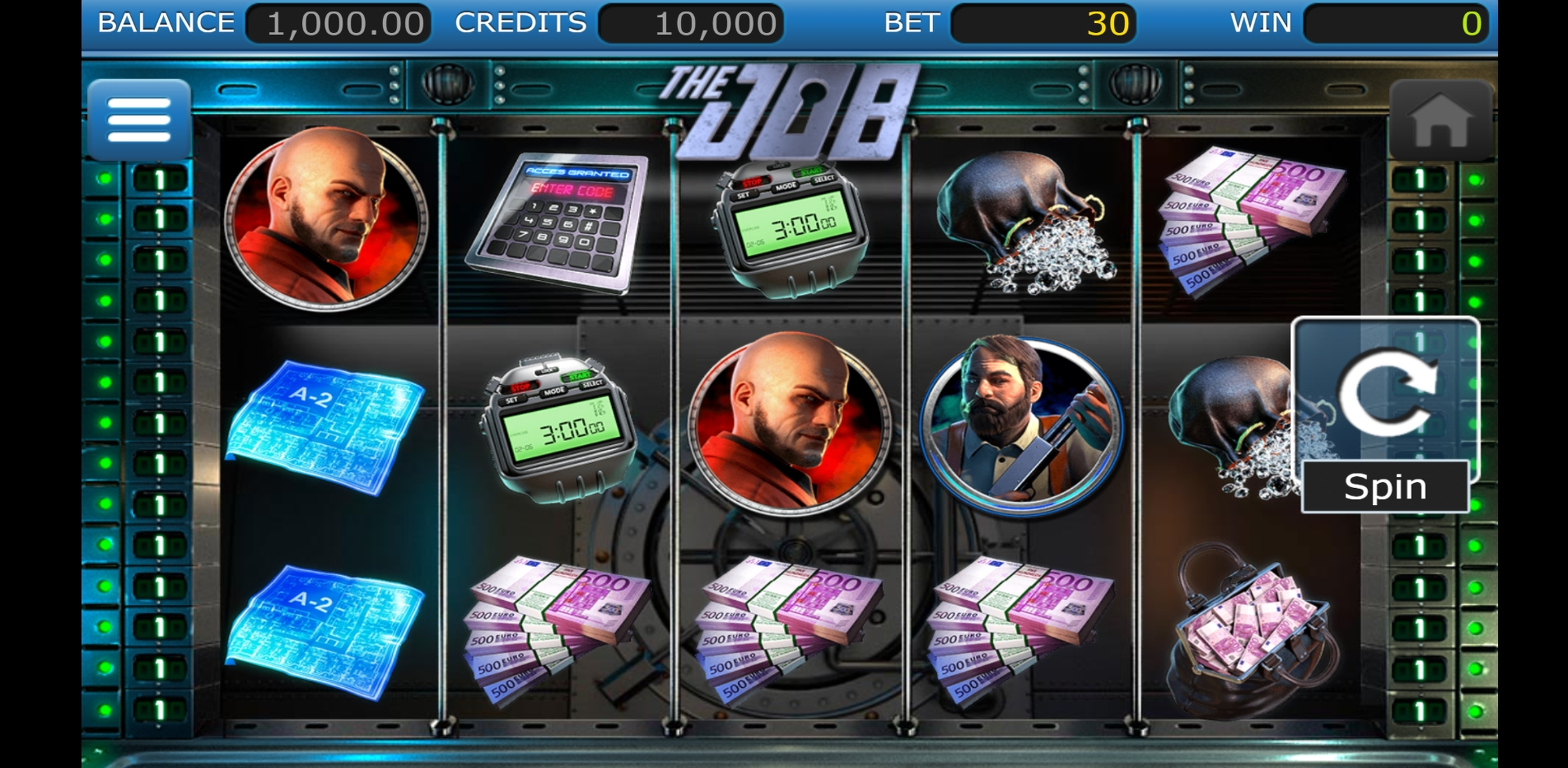 Reels in The Job Slot Game by Nucleus Gaming
