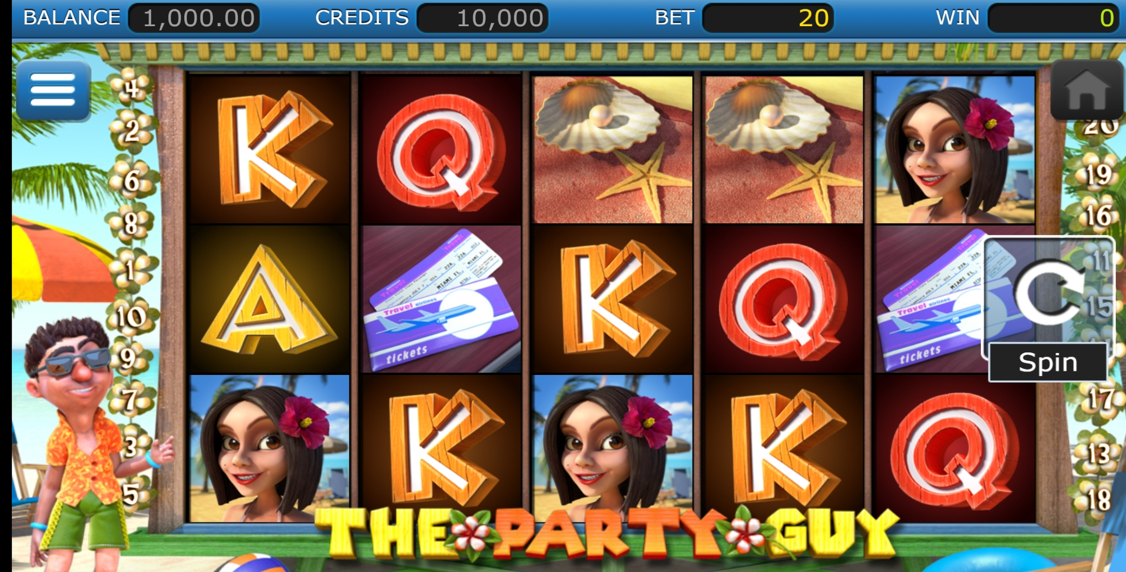 Reels in The Party Guy Slot Game by Nucleus Gaming