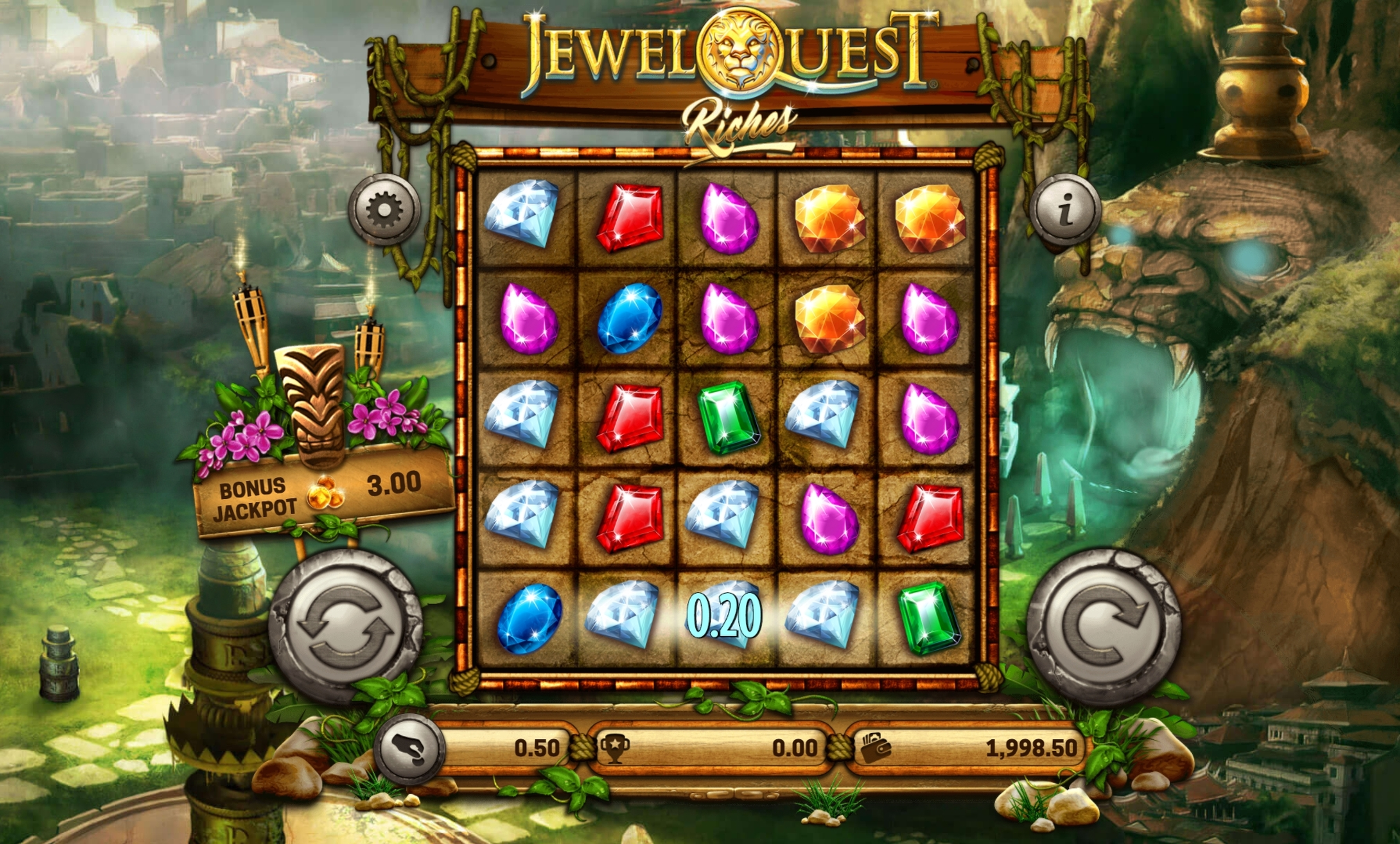 Win Money in Jewel Quest Riches Free Slot Game by Old Skool Studios