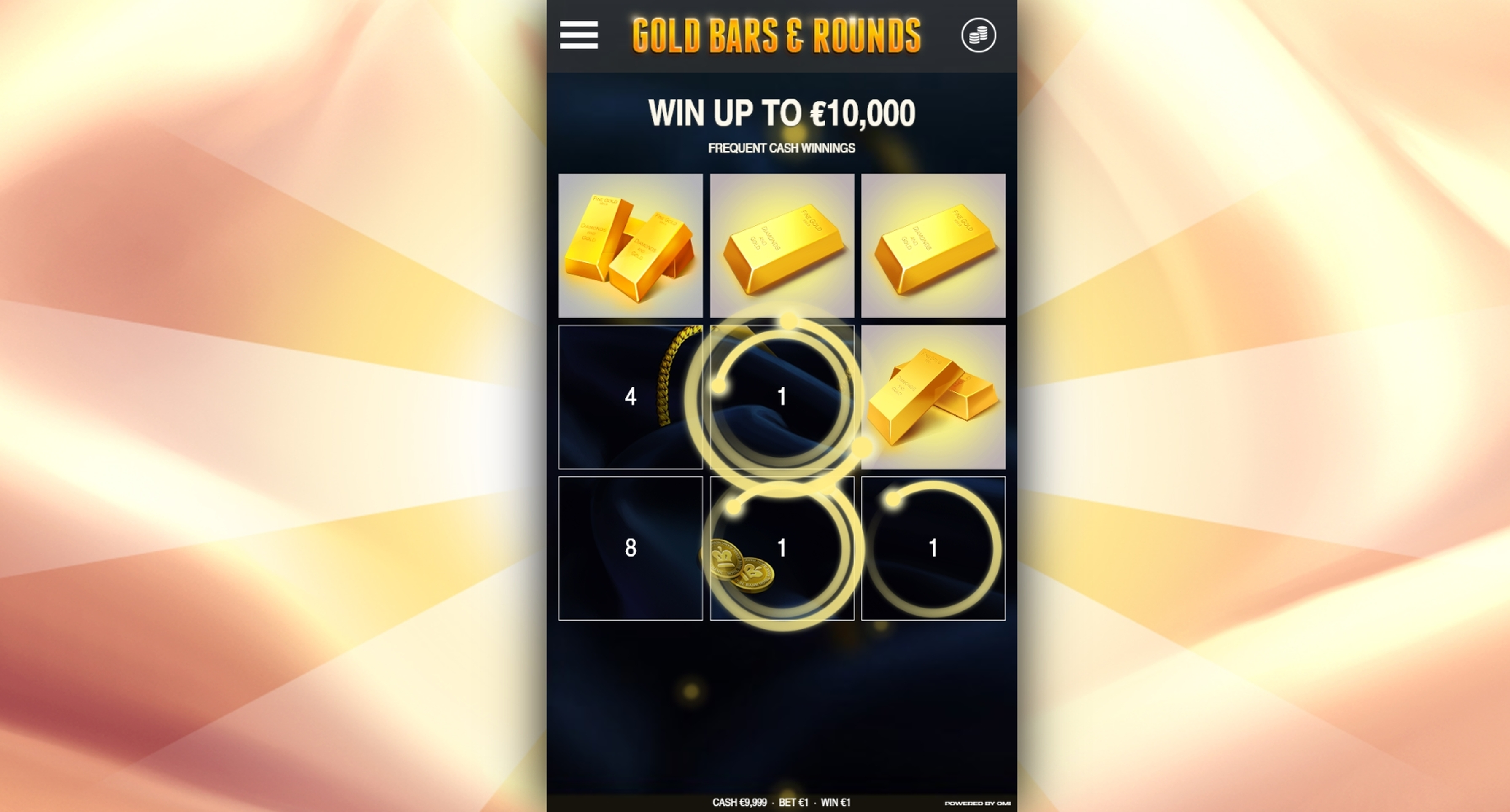 Win Money in Gold Bars & Rounds Free Slot Game by OMI Gaming