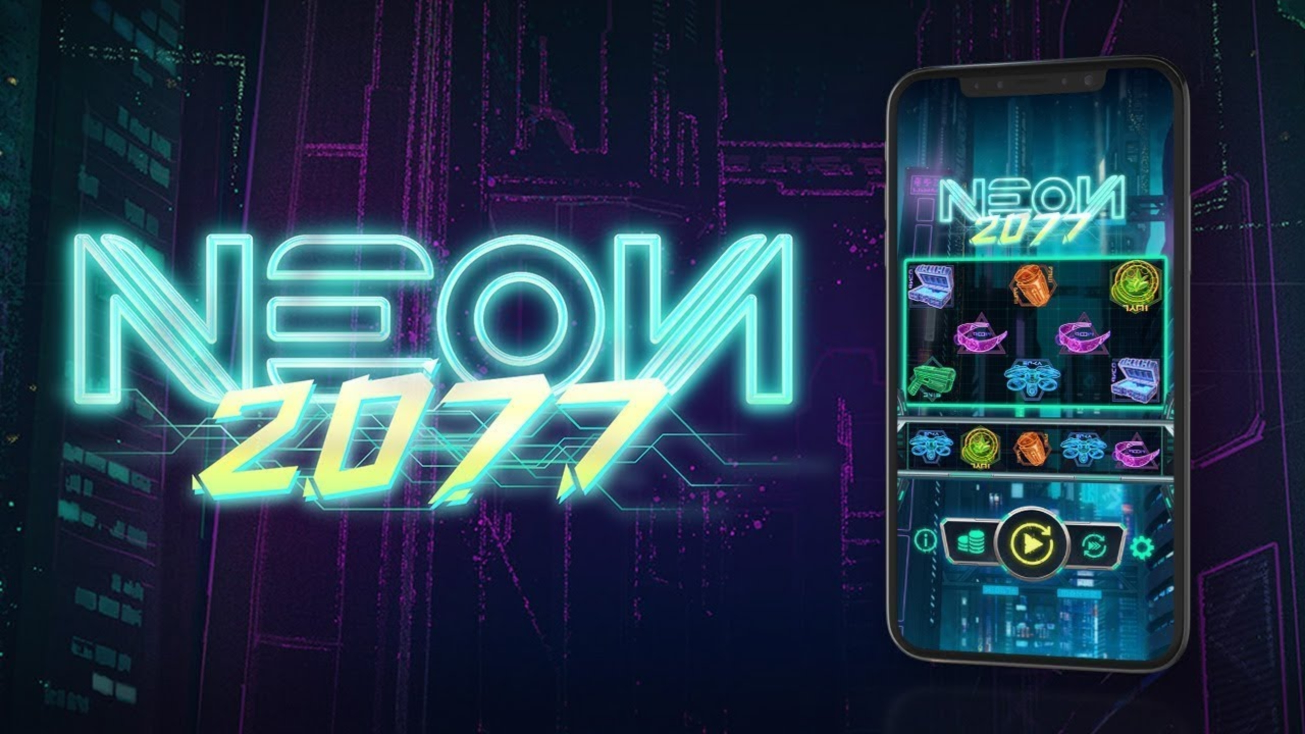 The Neon2077 Online Slot Demo Game by OneTouch Games