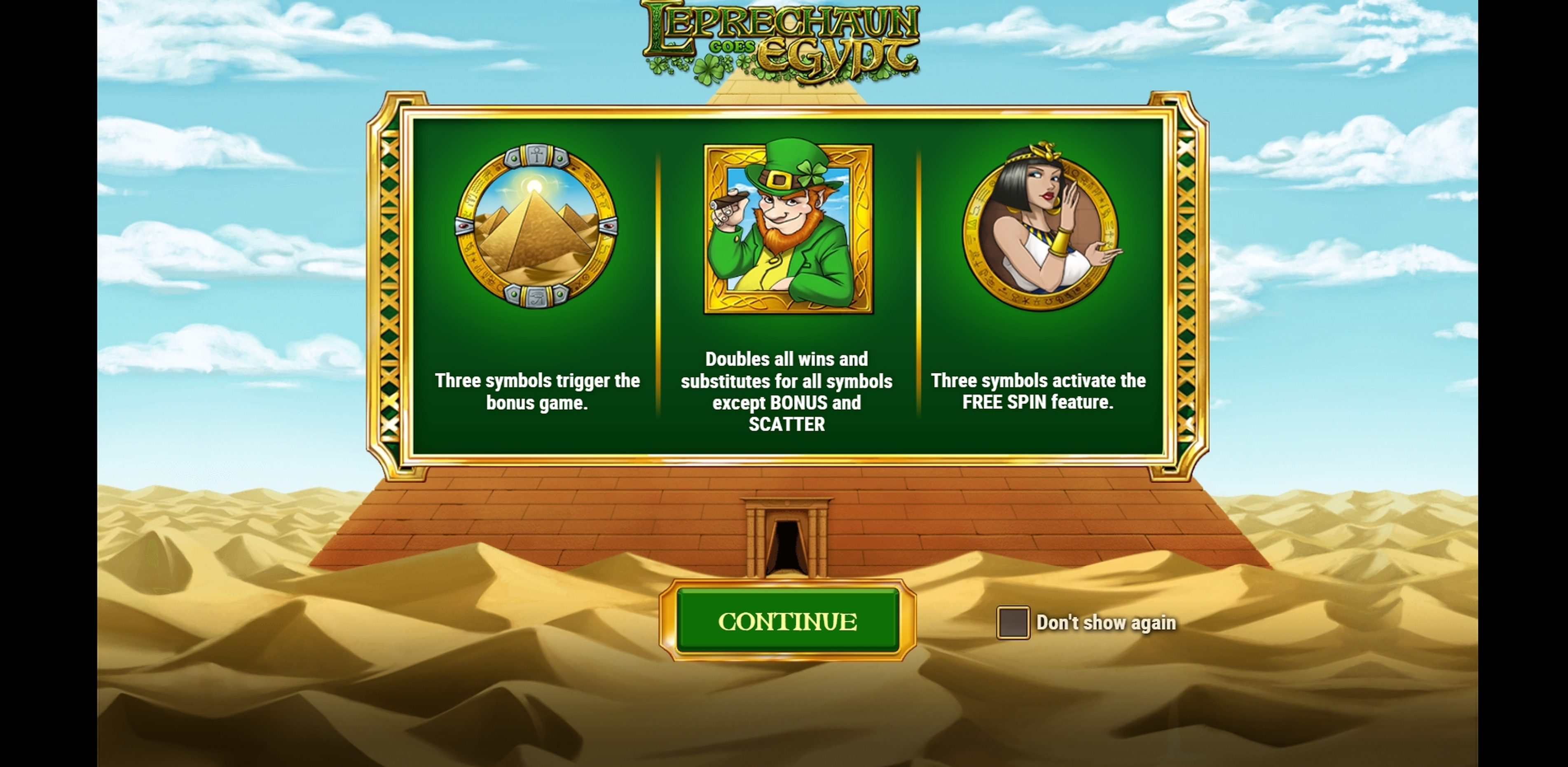 Play Leprechaun goes Egypt Free Casino Slot Game by Playn GO
