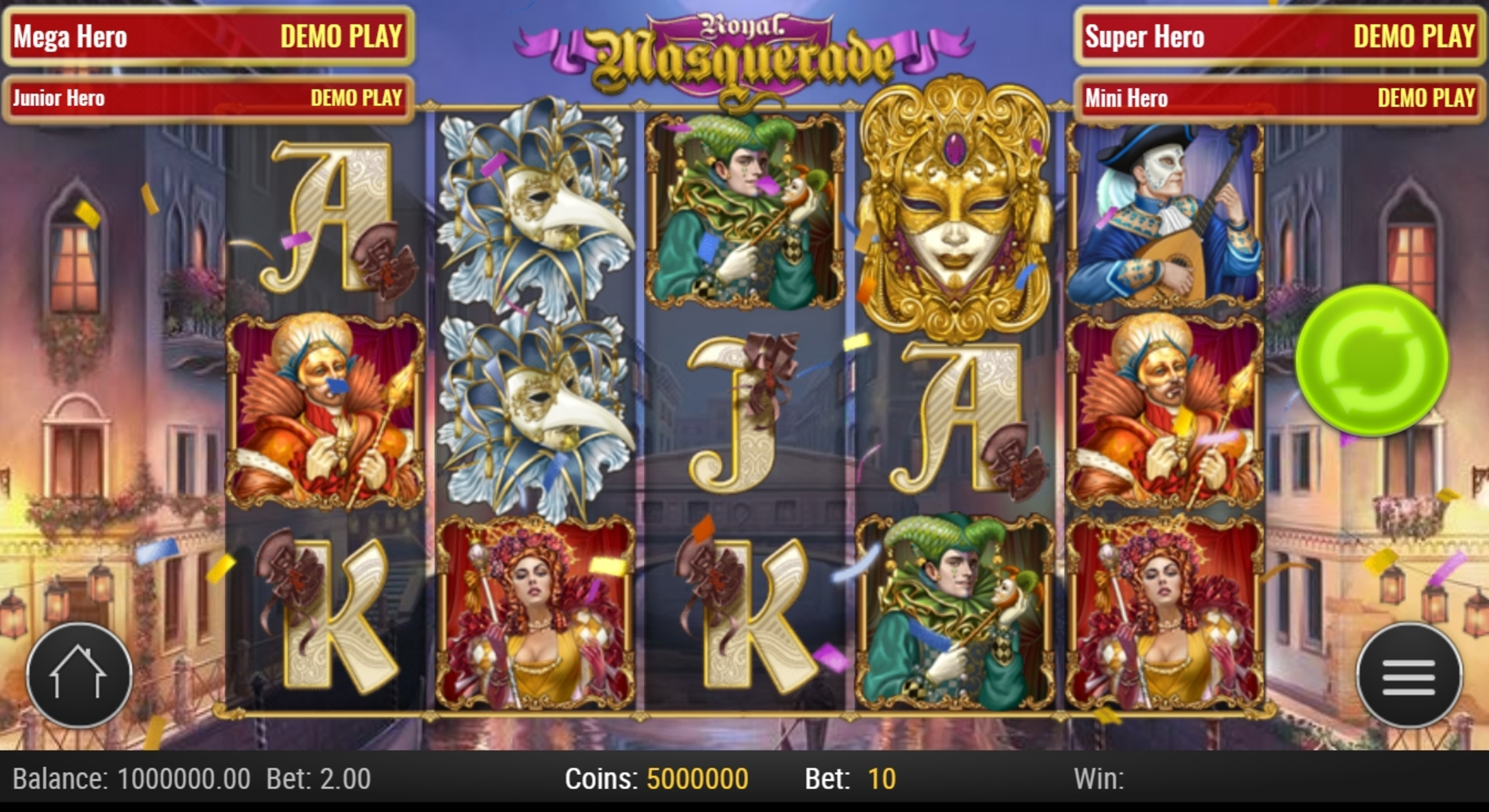 Reels in Royal Masquerade (Play'n Go) Slot Game by Playn GO
