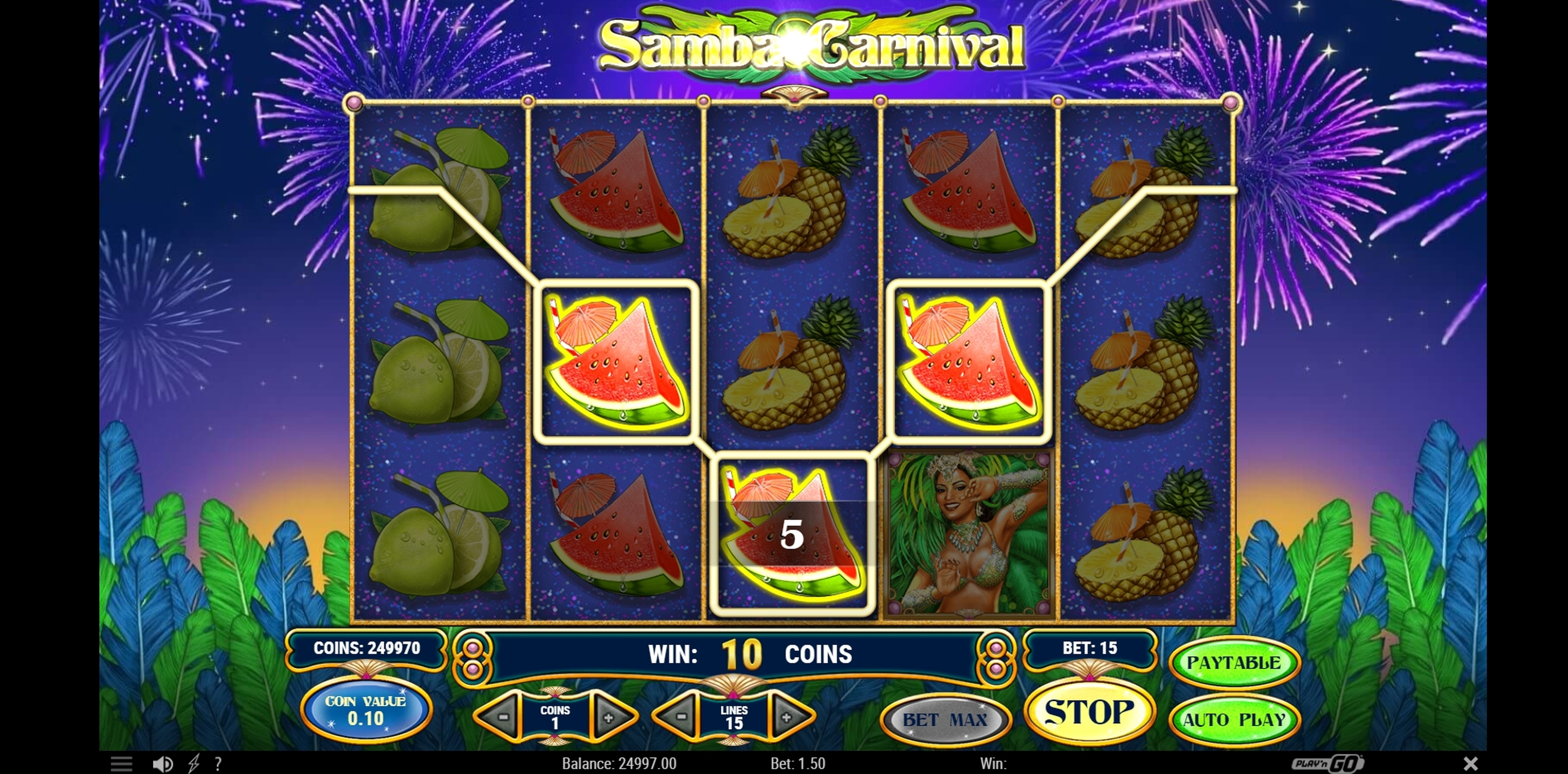 Win Money in Samba Carnival Free Slot Game by Playn GO