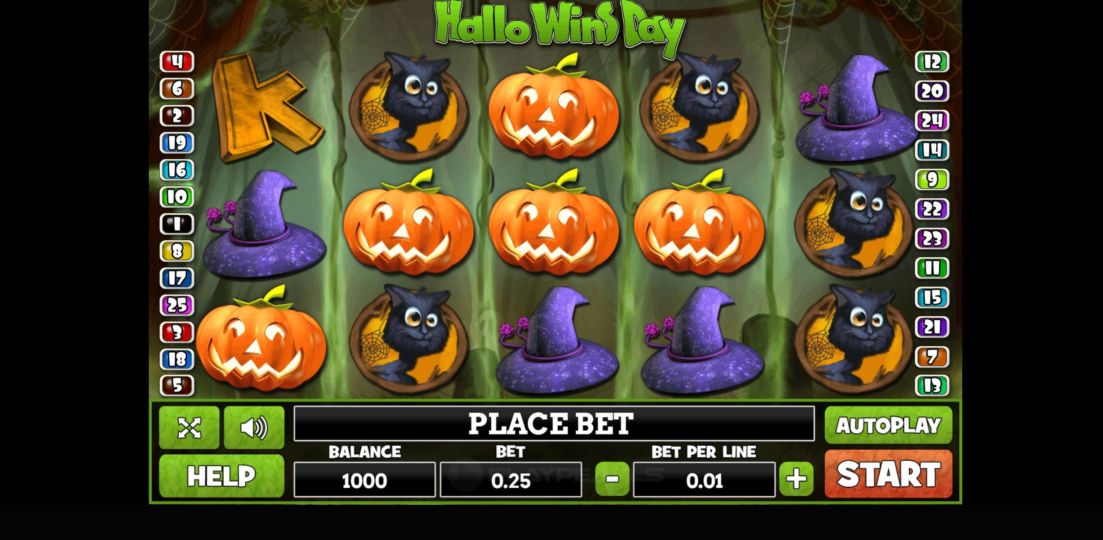 Reels in Hallo Wins Day Slot Game by PlayPearls
