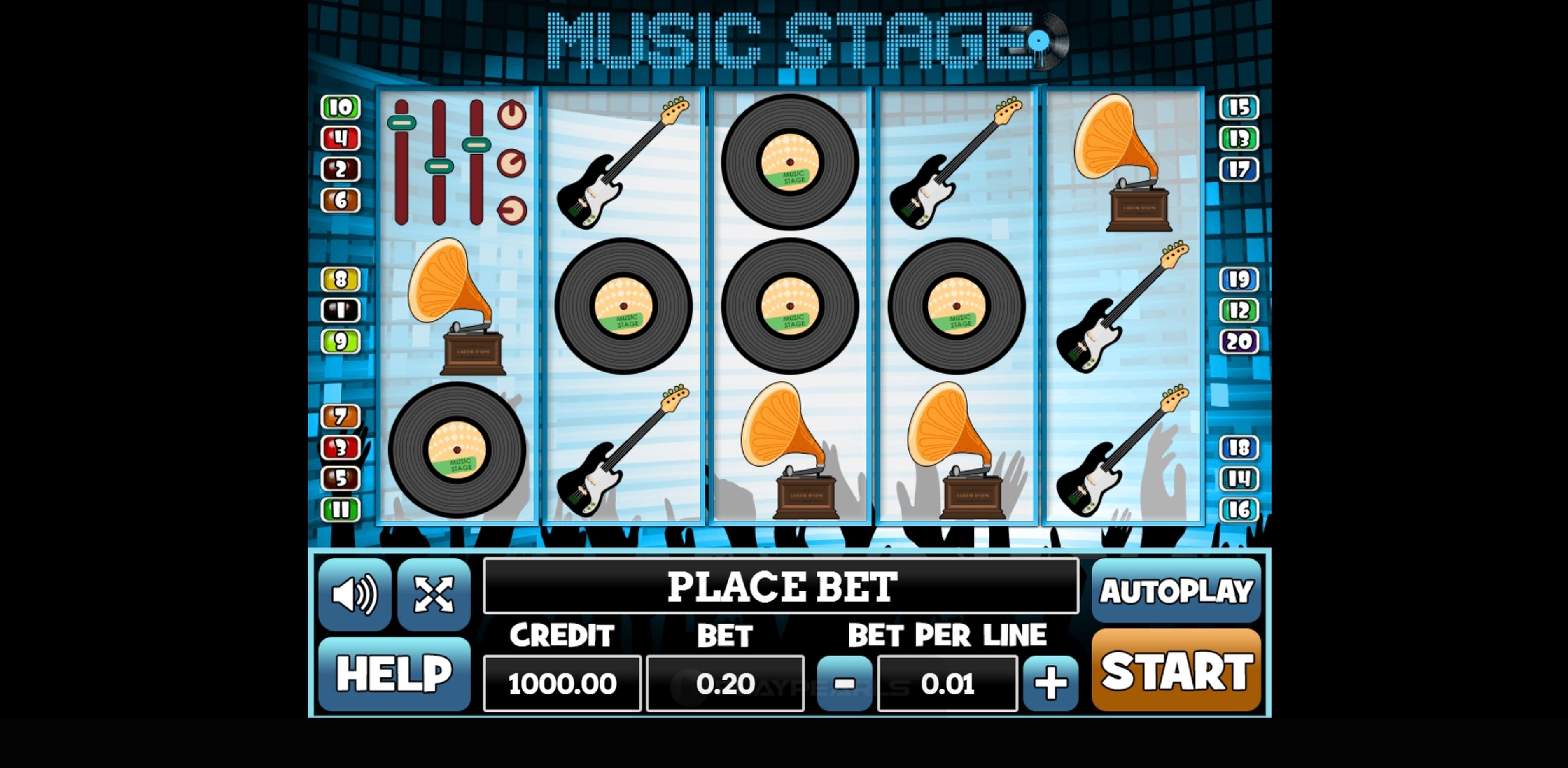 Reels in Music Stage Slot Game by PlayPearls