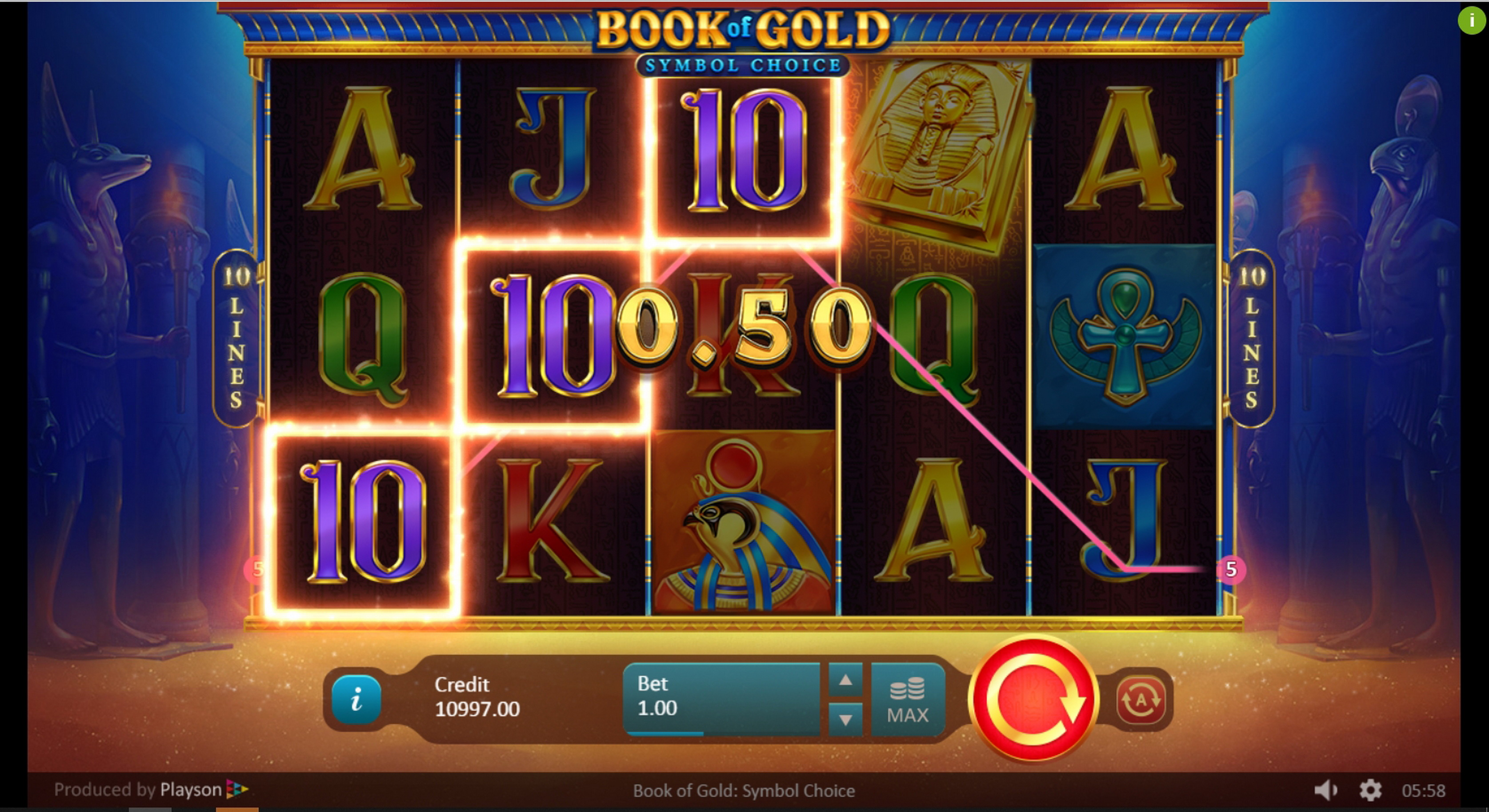 Win Money in Book of Gold: Symbol Choice Free Slot Game by Playson