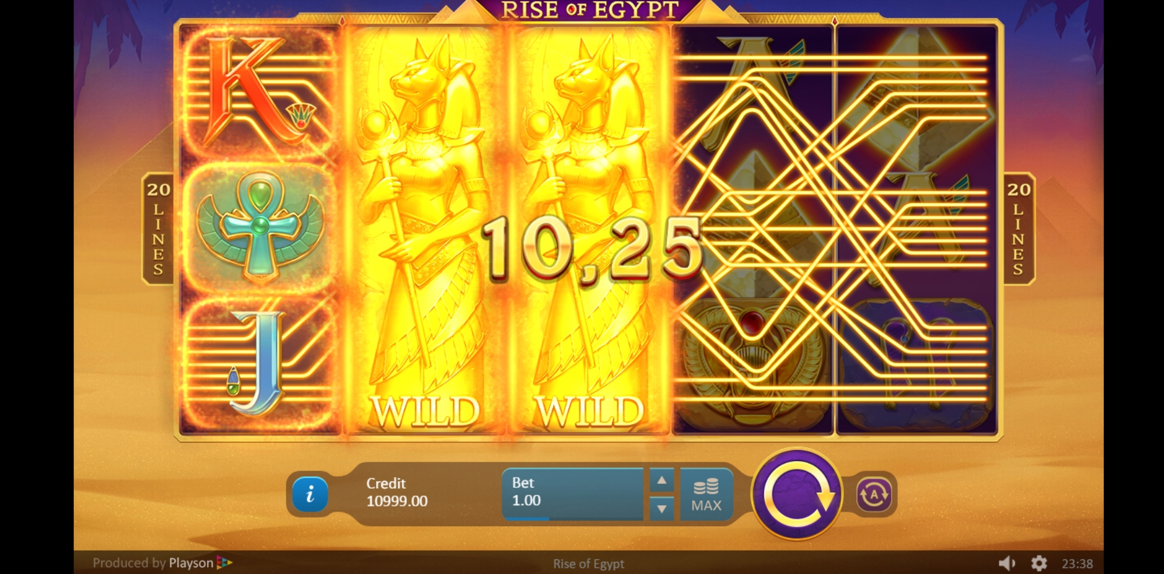 Win Money in Rise of Egypt Free Slot Game by Playson