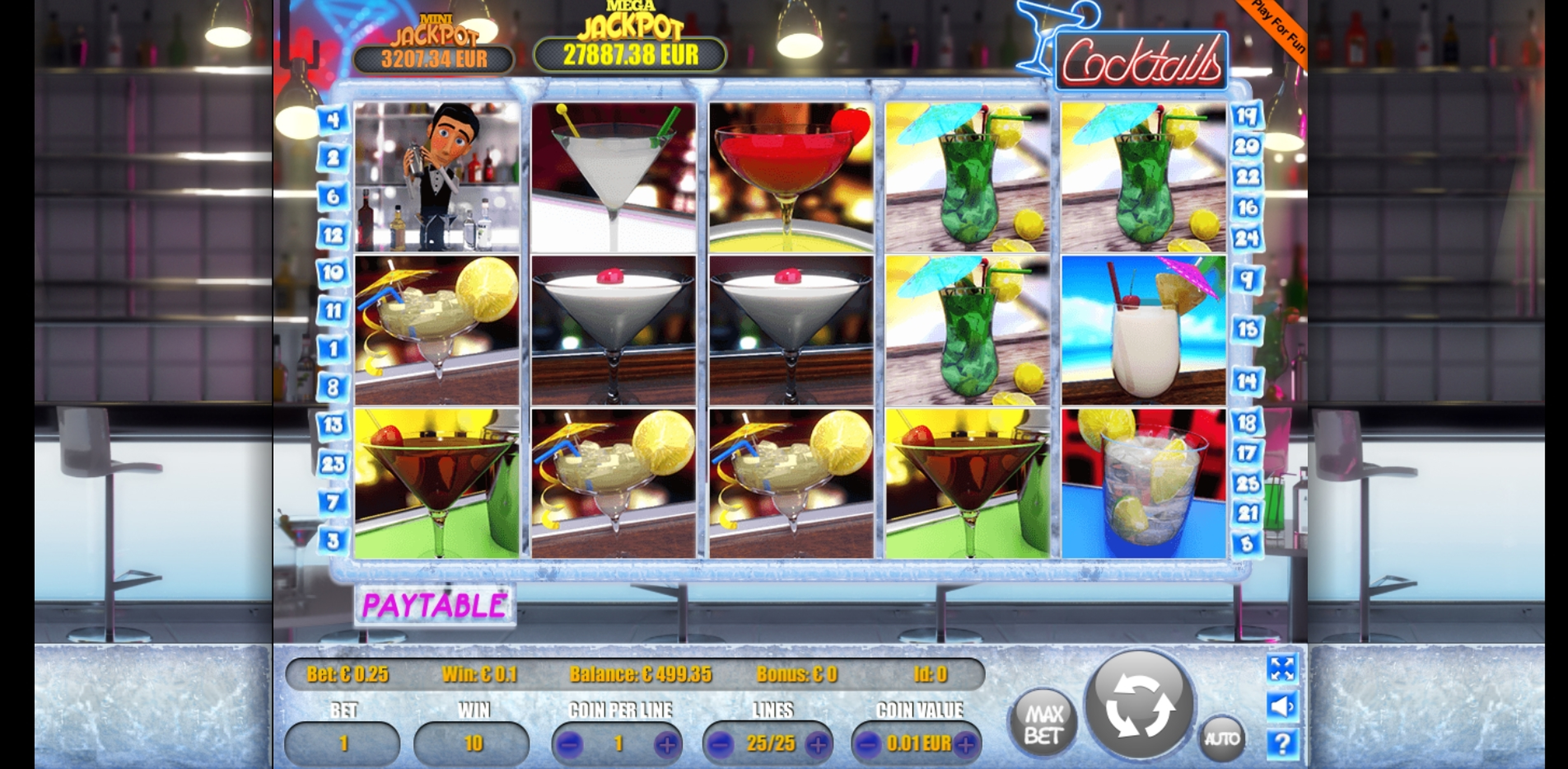 Win Money in Cocktails Free Slot Game by Portomaso Gaming