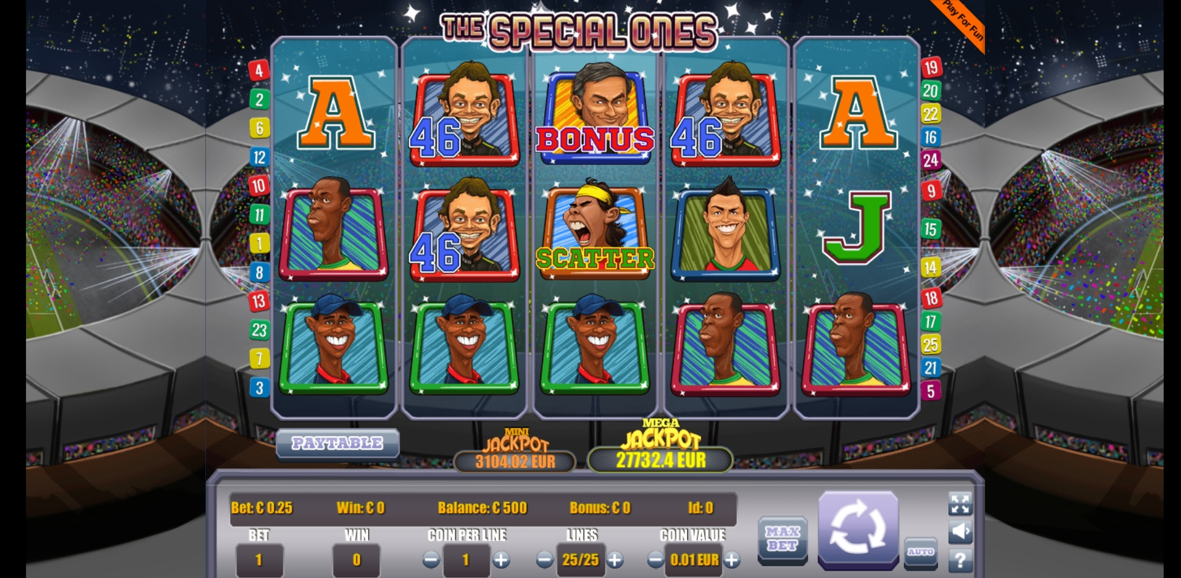Reels in The Special Ones Slot Game by Portomaso Gaming