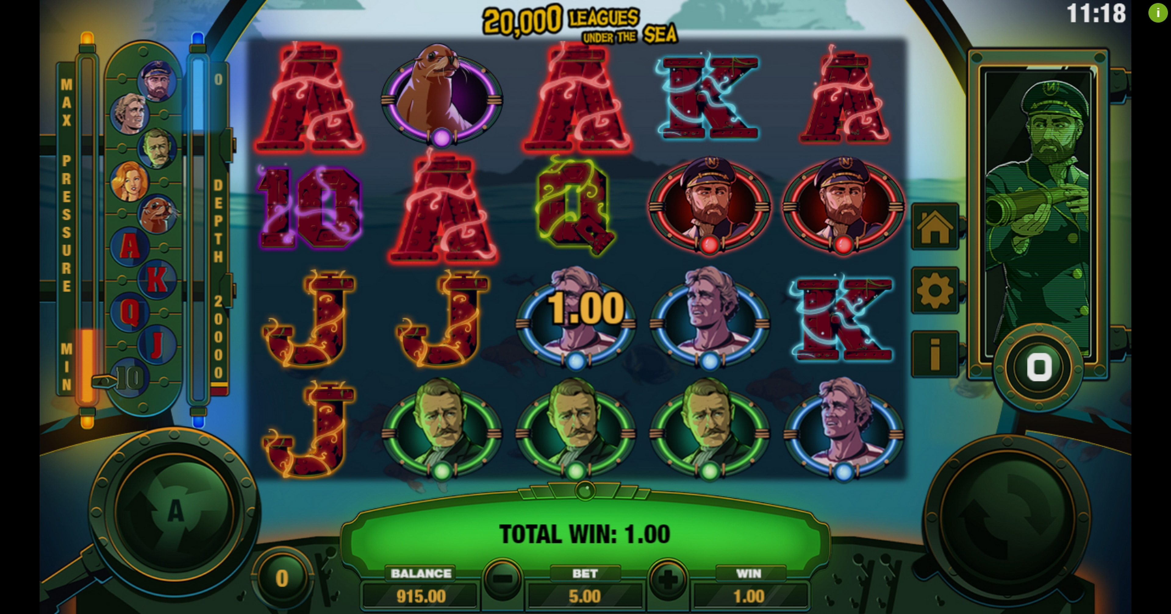 Win Money in 20000 Leagues Under The Sea Free Slot Game by Probability Jones