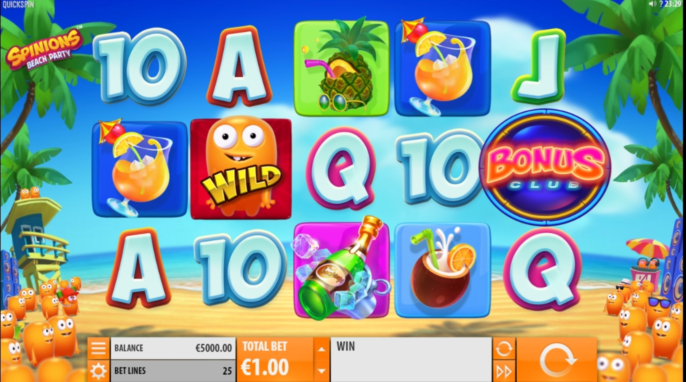 Reels in Spinions Slot Game by Quickspin