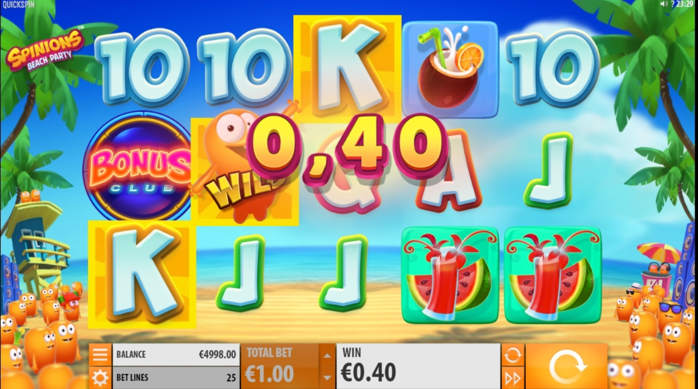 Win Money in Spinions Free Slot Game by Quickspin