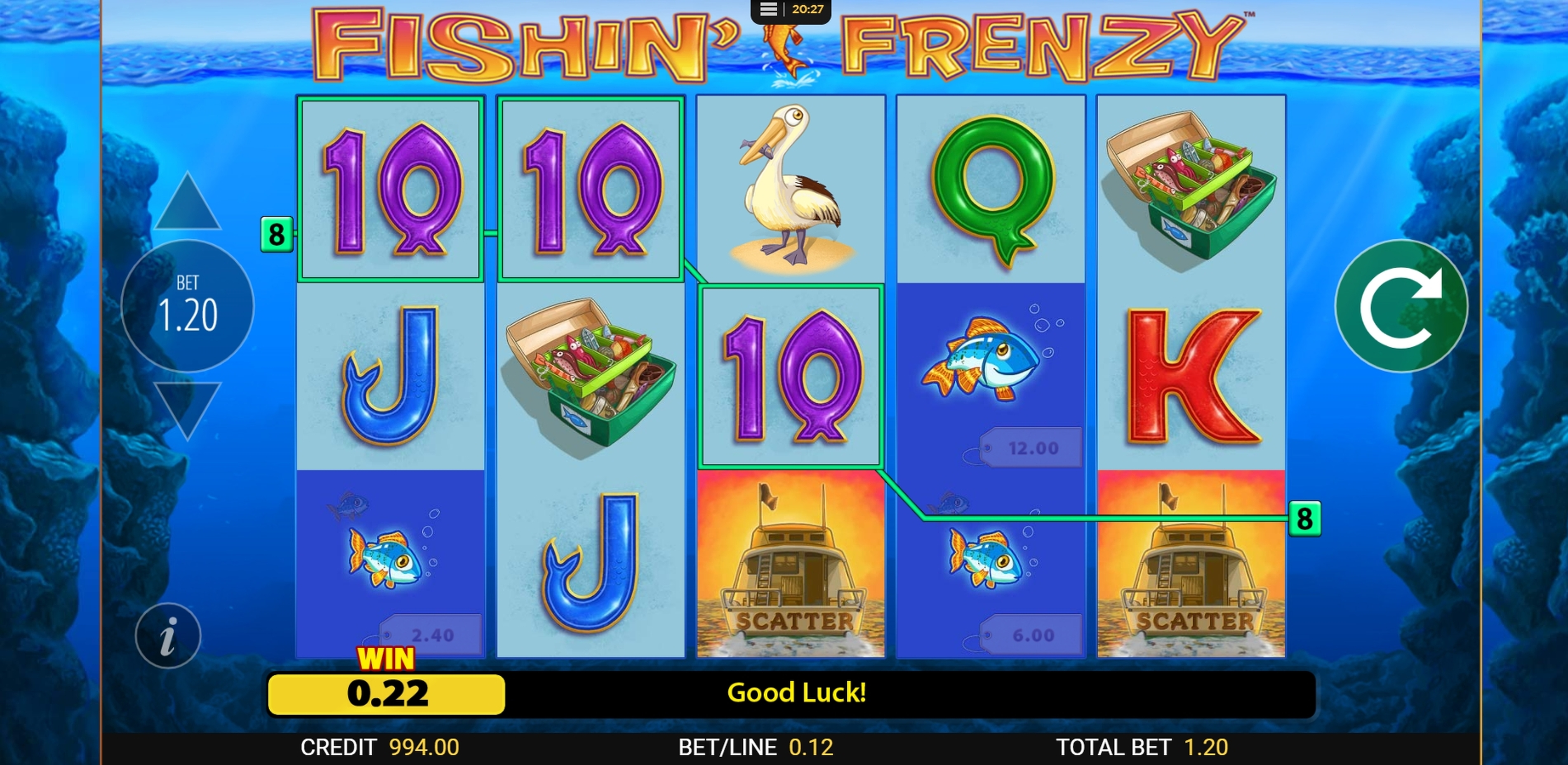 Win Money in Fishin' Frenzy Free Slot Game by Reel Time Gaming